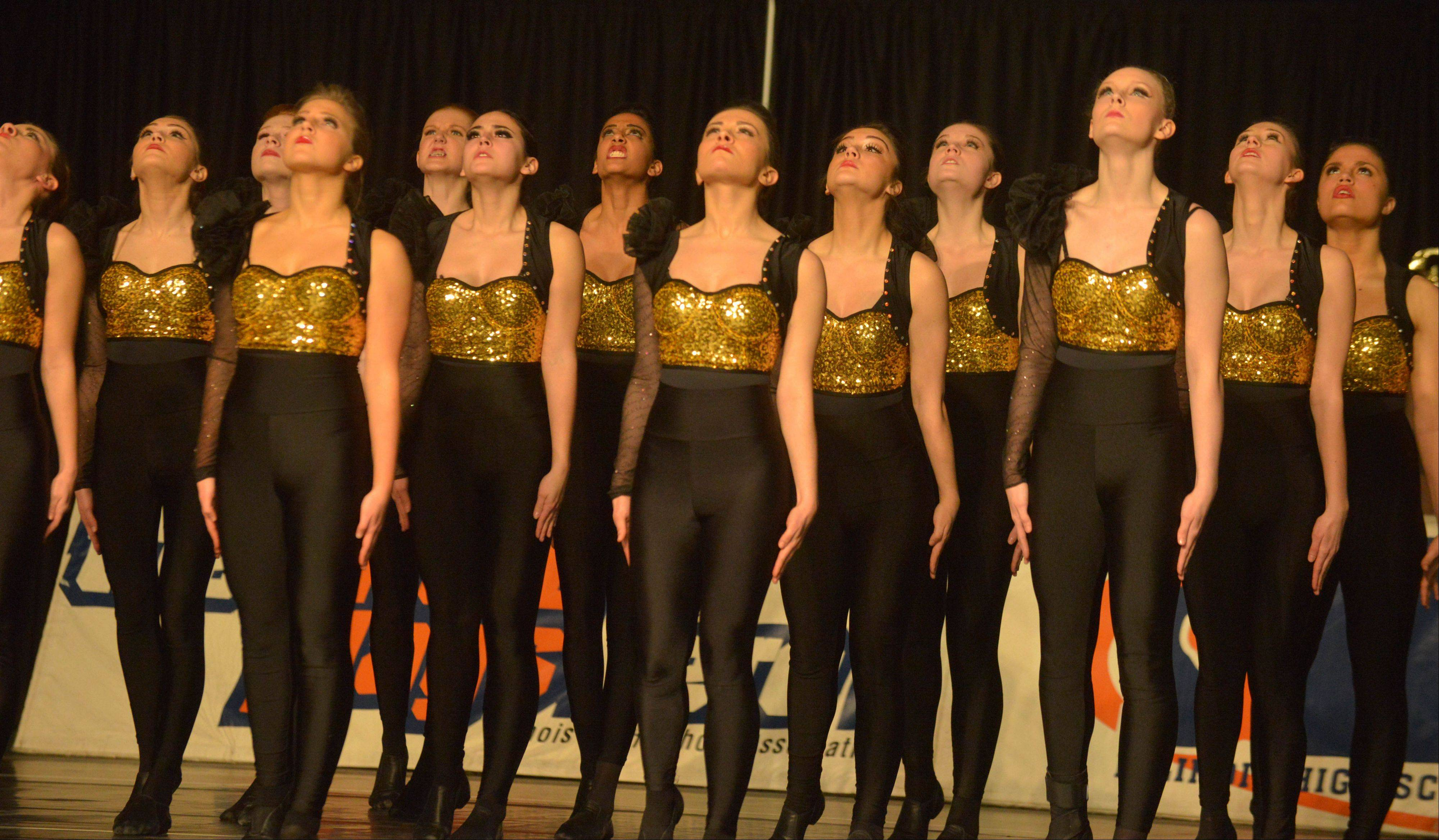 The Downers Grove North High School dance team takes part in the Competitive Dance preliminary round Friday at U.S. Cellular Coliseum in Bloomington.