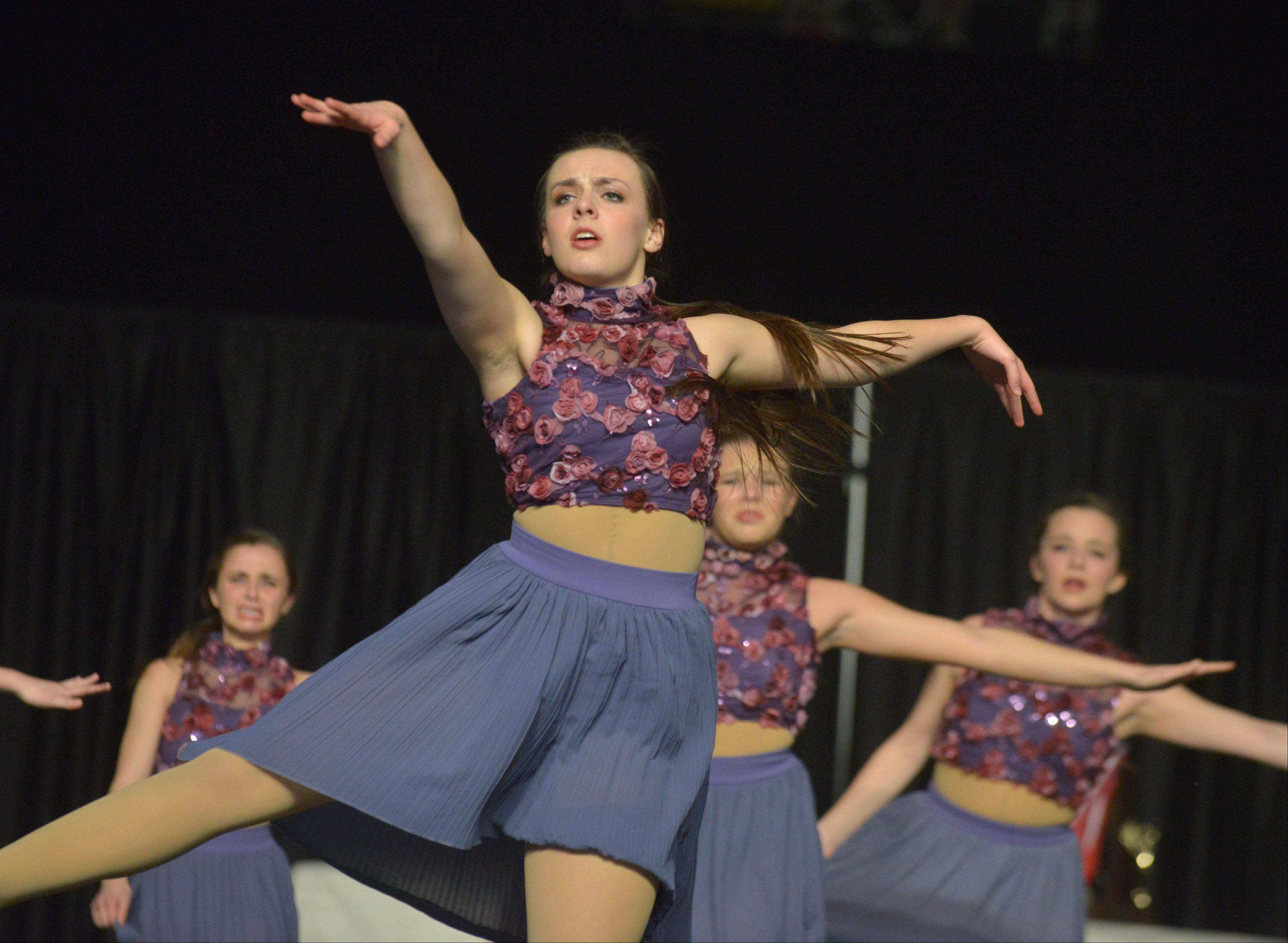 The Saint Charles East High School dance team took part in the Competitive Dance preliminary round Friday at U.S. Cellular Coliseum in Bloomington.