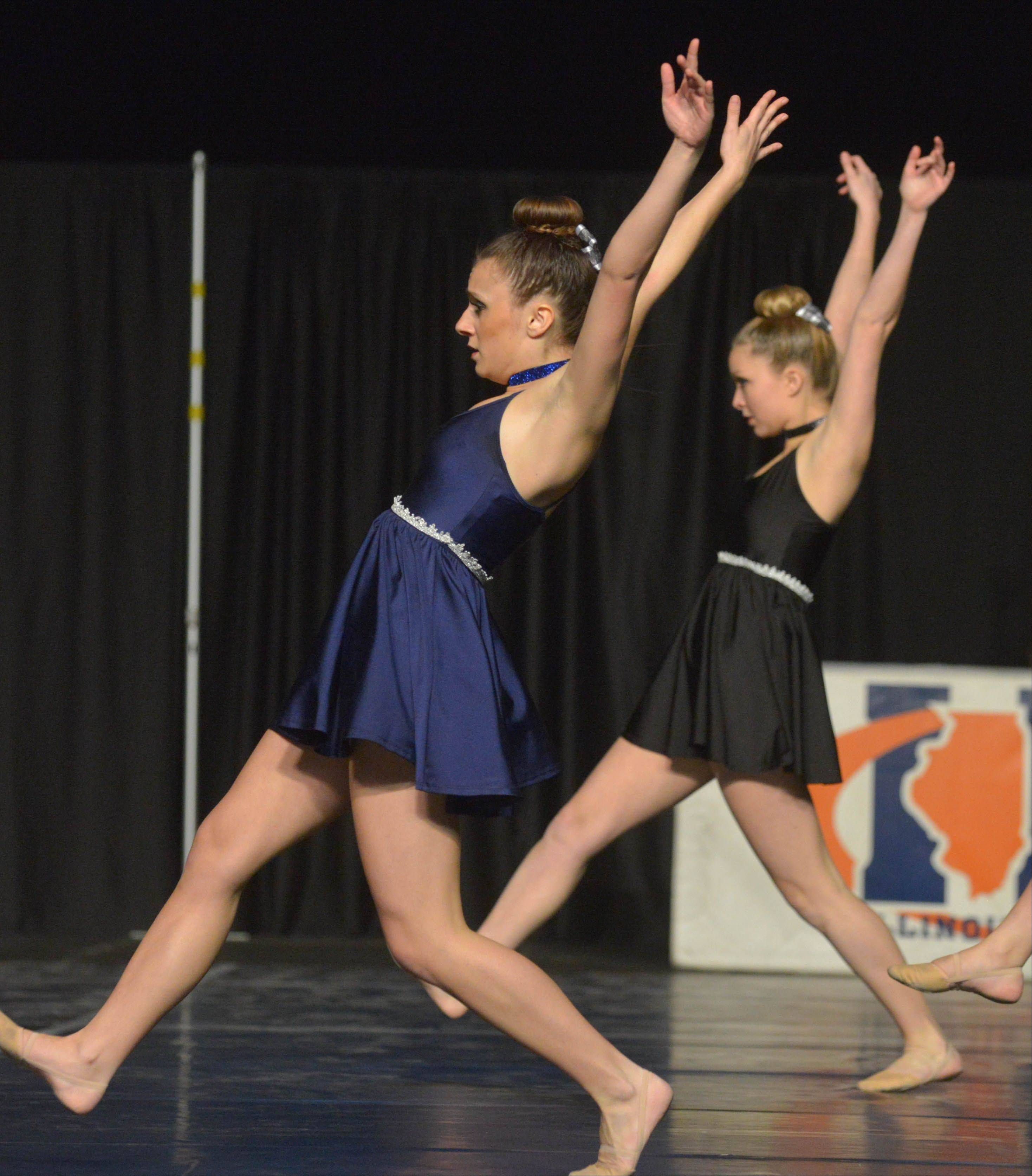The Larkin High School dance team took part in the Competitive Dance preliminary round Friday at U.S. Cellular Coliseum in Bloomington.