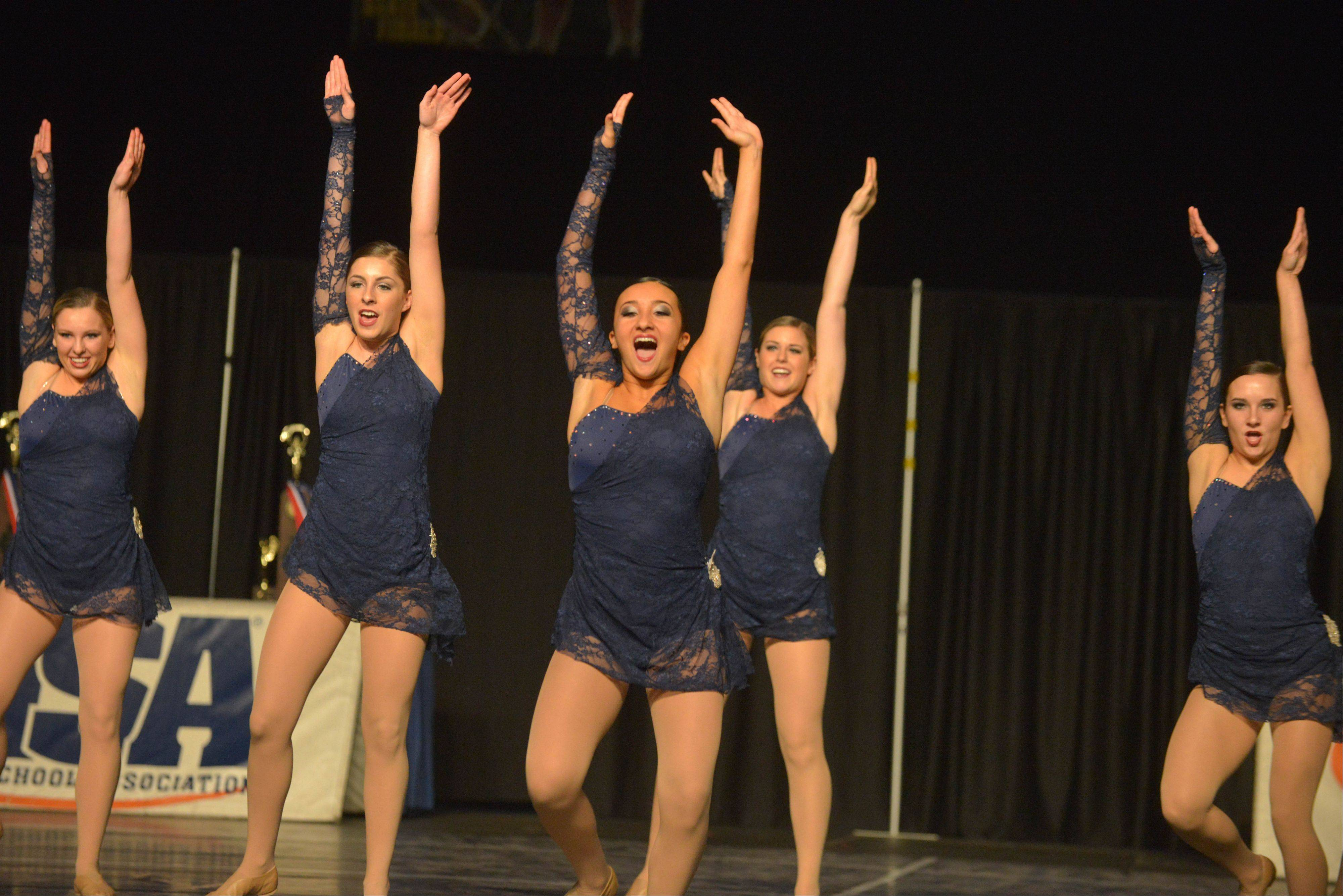 The Neuqua Valley dance team takes part in the Competitive Dance preliminary round Friday at U.S. Cellular Coliseum in Bloomington.