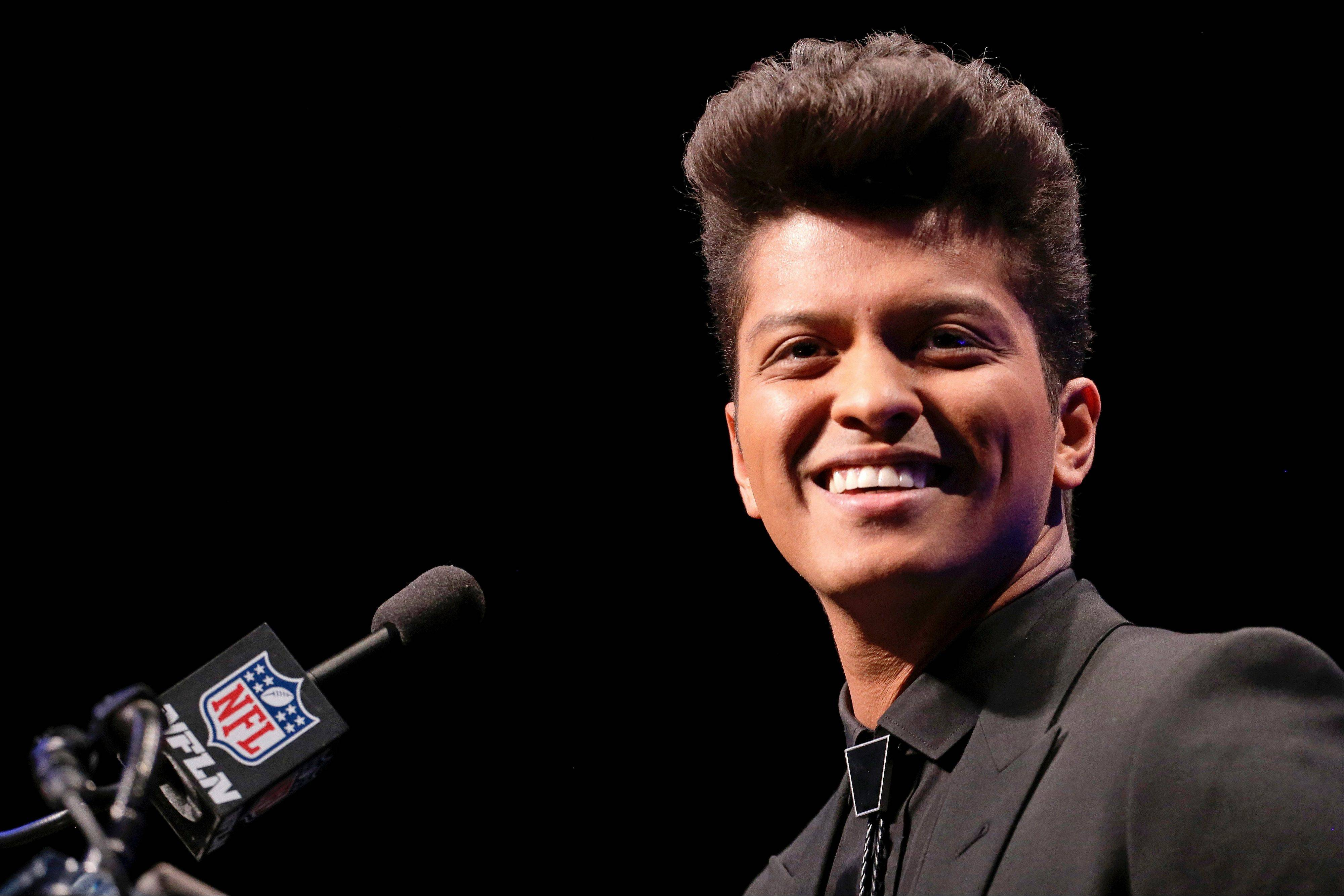 "Bruno Mars says he is so grateful for the chance to perform on ""such a prestigious stage,"" despite the predicted cold weather."