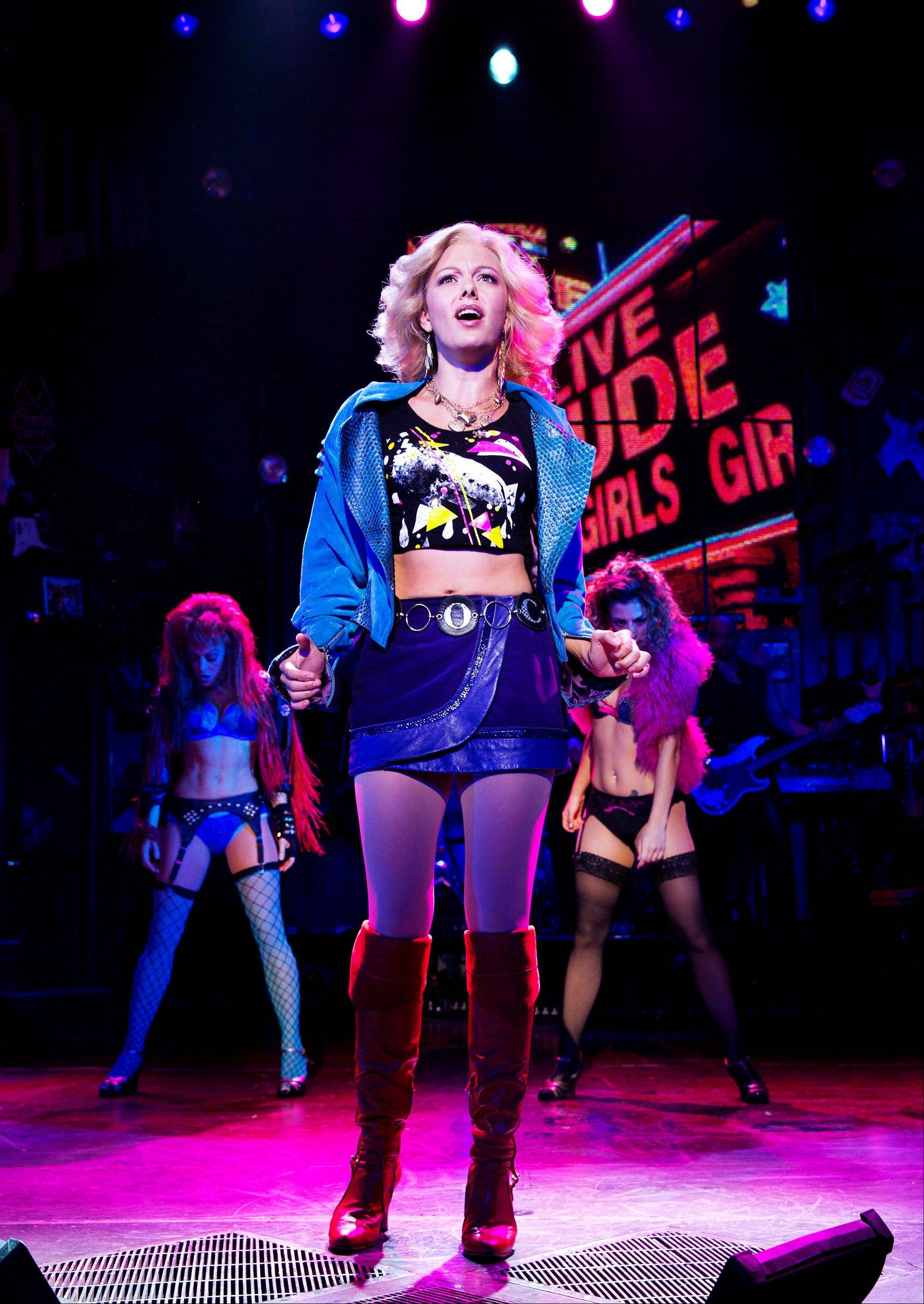"Kate Rockwell stars in ""Rock of Ages,"" which will be part of the televised pregame entertainment before Sunday's Super Bowl."