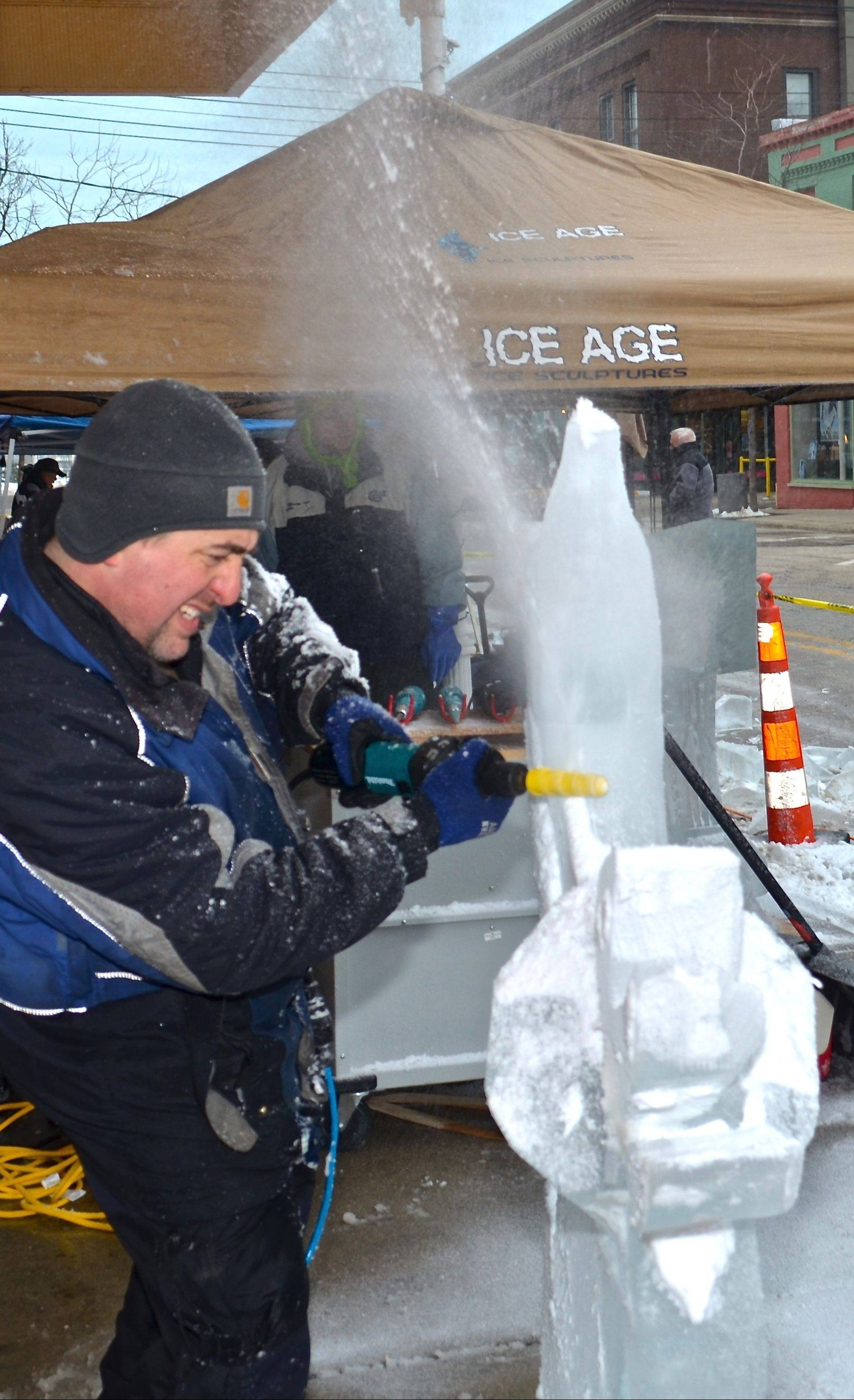 Watch pro carvers make hay out of chunks of ice at the annual Magical Ice Fest in St. Joseph, Mich., from Feb. 7-9.