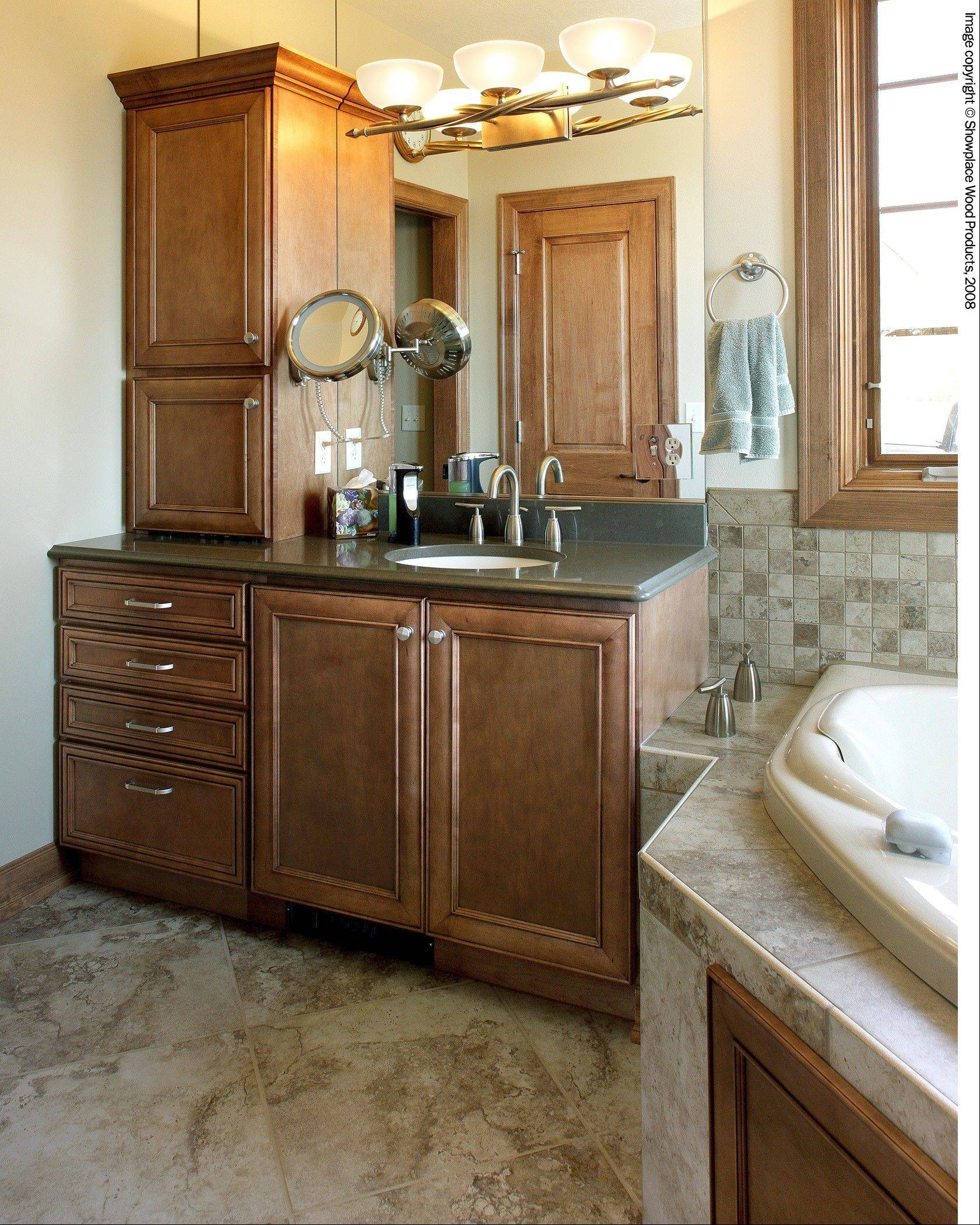 Bathroom vanity heights have changed as more people are aware of aging in place.