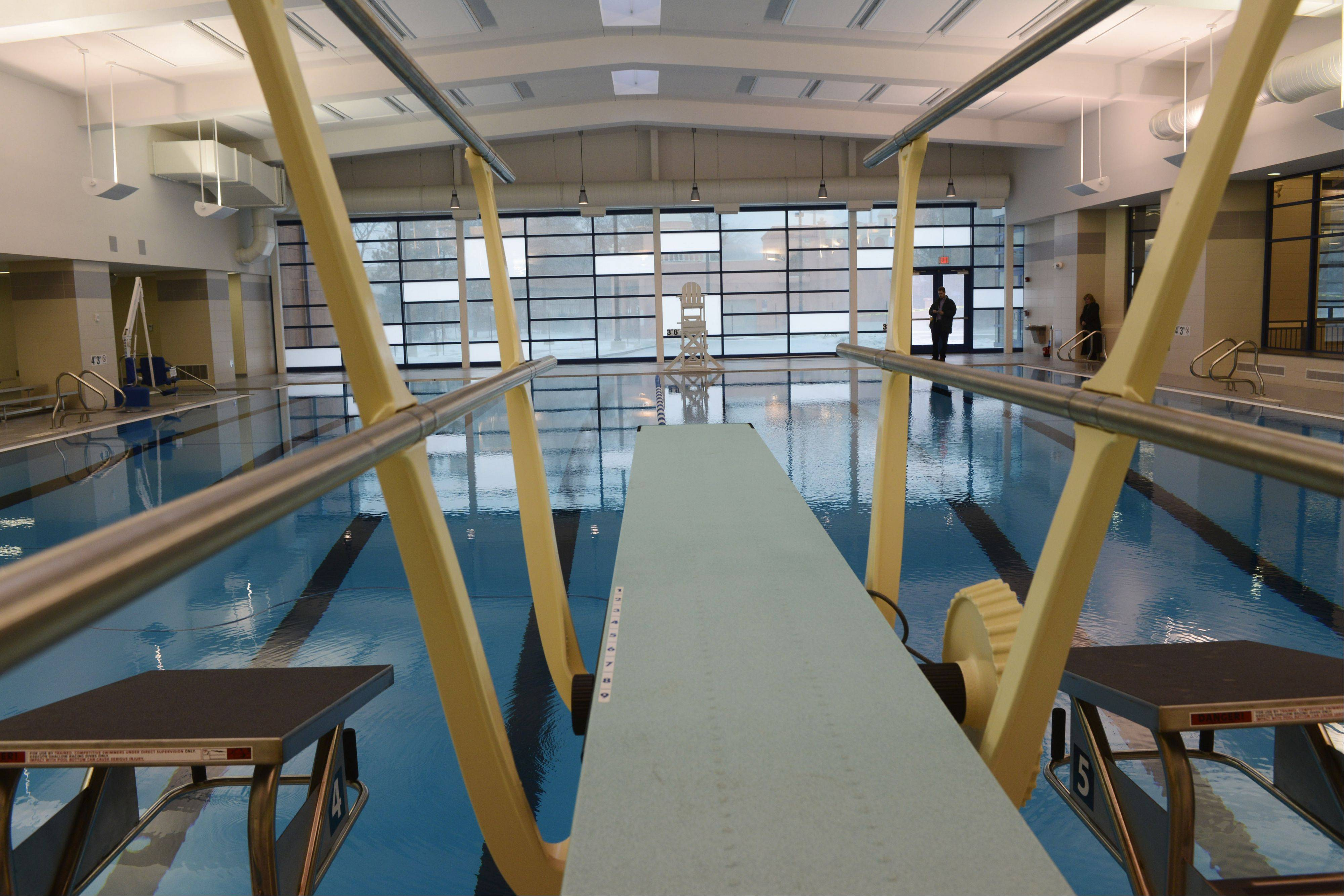 The Elk Grove Park District is ready to unveil renovations to the Pavilion Aquatics Center, which includes an expanded eight-lane, 25-yard indoor lap pool with new diving board.