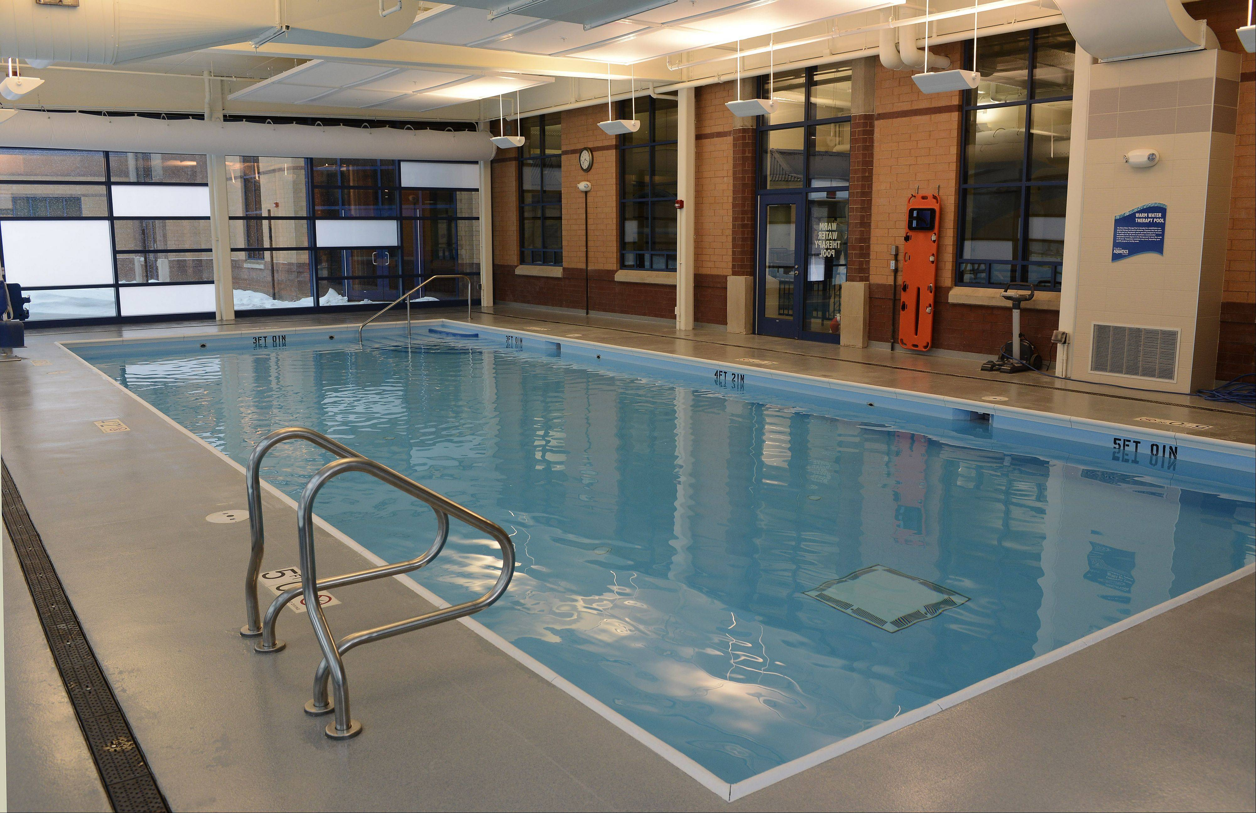 A warm water therapy pool is a new addition to the Elk Grove Park District's Pavilion Aquatics Center, which reopens to the public today.