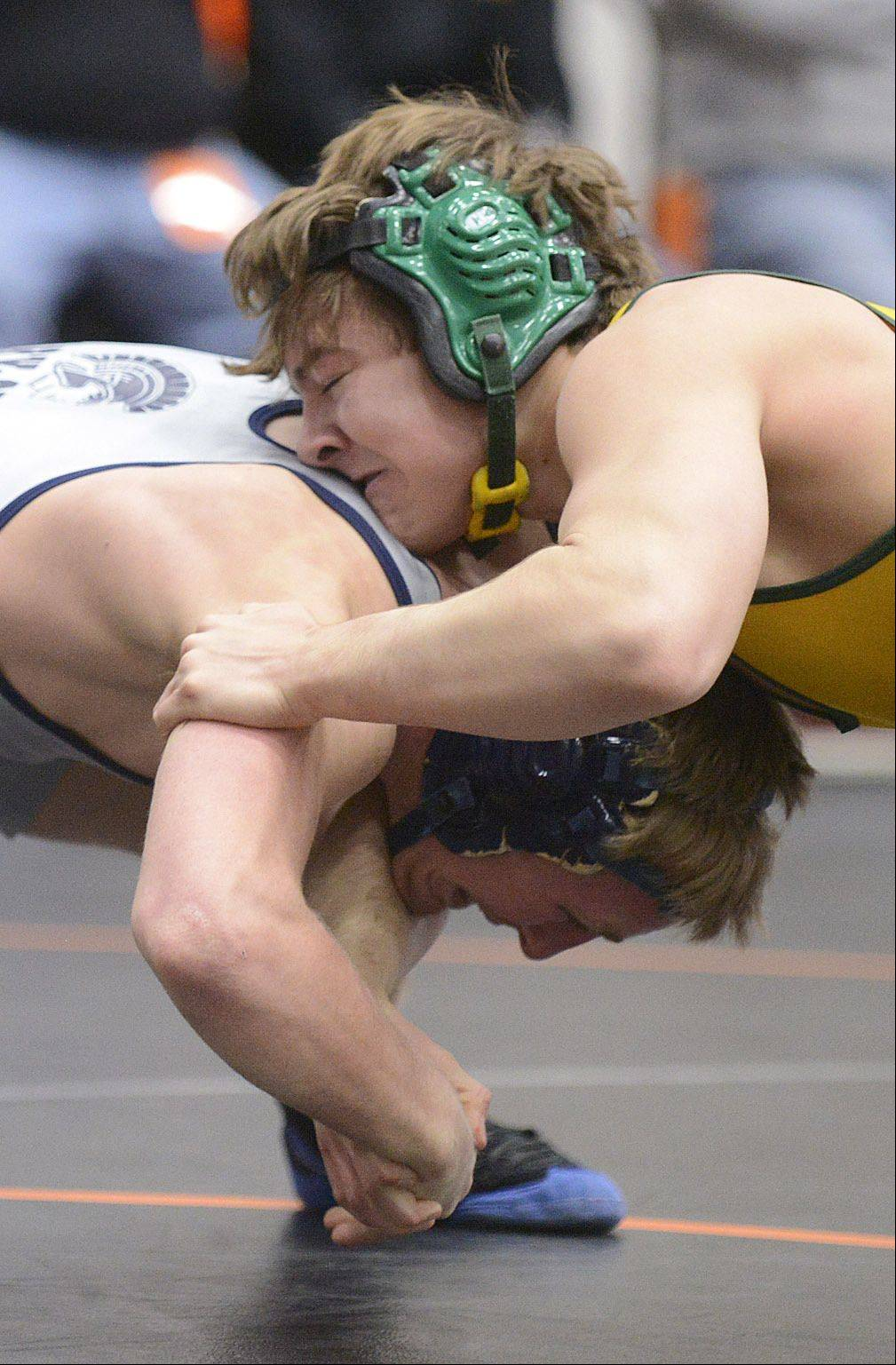 Crystal Lake South's Casey Callahan takes the 152-pound championship over Cary-Grove's Matt Hughs at the Fox Valley Conference meet in McHenry on Saturday.