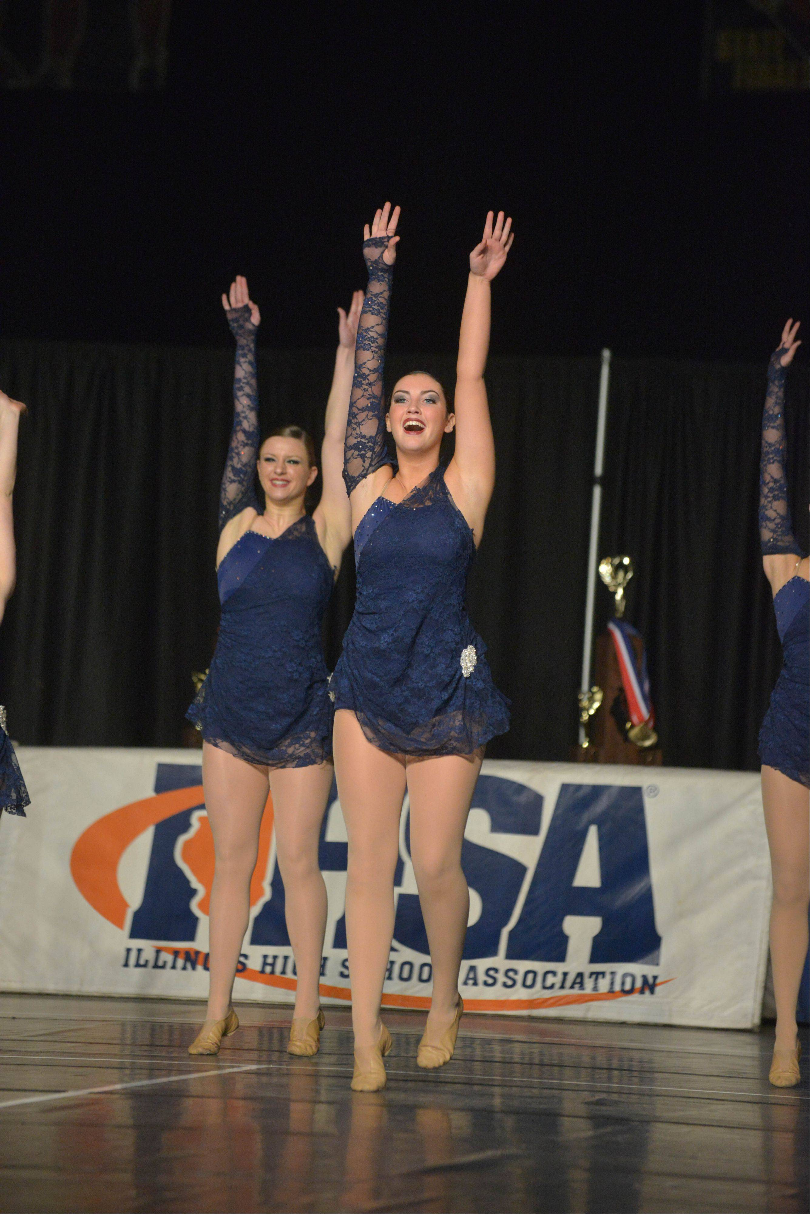 Neuqua Valley High School took part in the IHSA Dance State Final at U.S. Cellular Coliseum in Bloomington Saturday. 90 teams vied for state champion at this event.