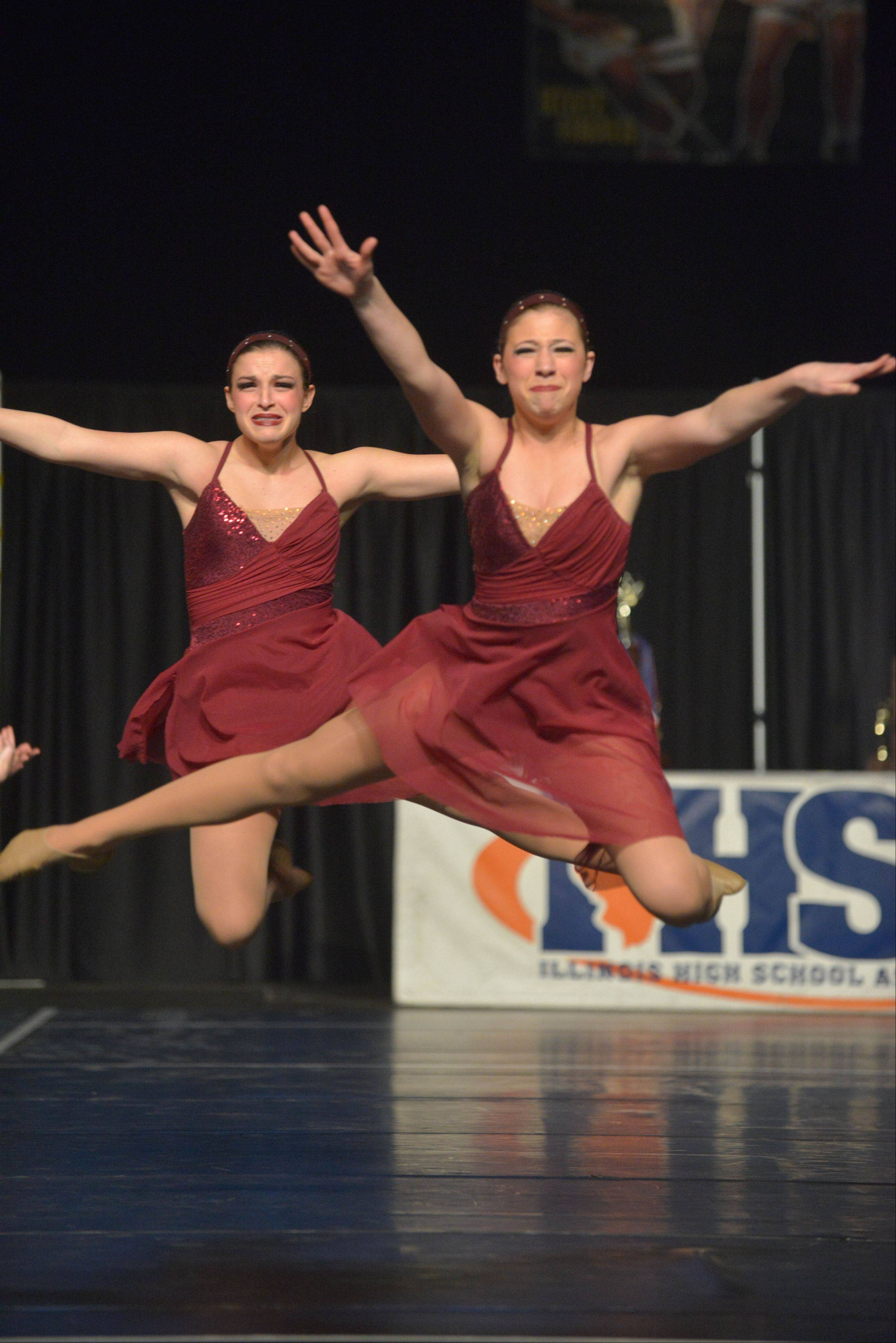 Libertyville High School took part in the IHSA Dance State Final at U.S. Cellular Coliseum in Bloomington Saturday. 90 teams vied for state champion at this event.