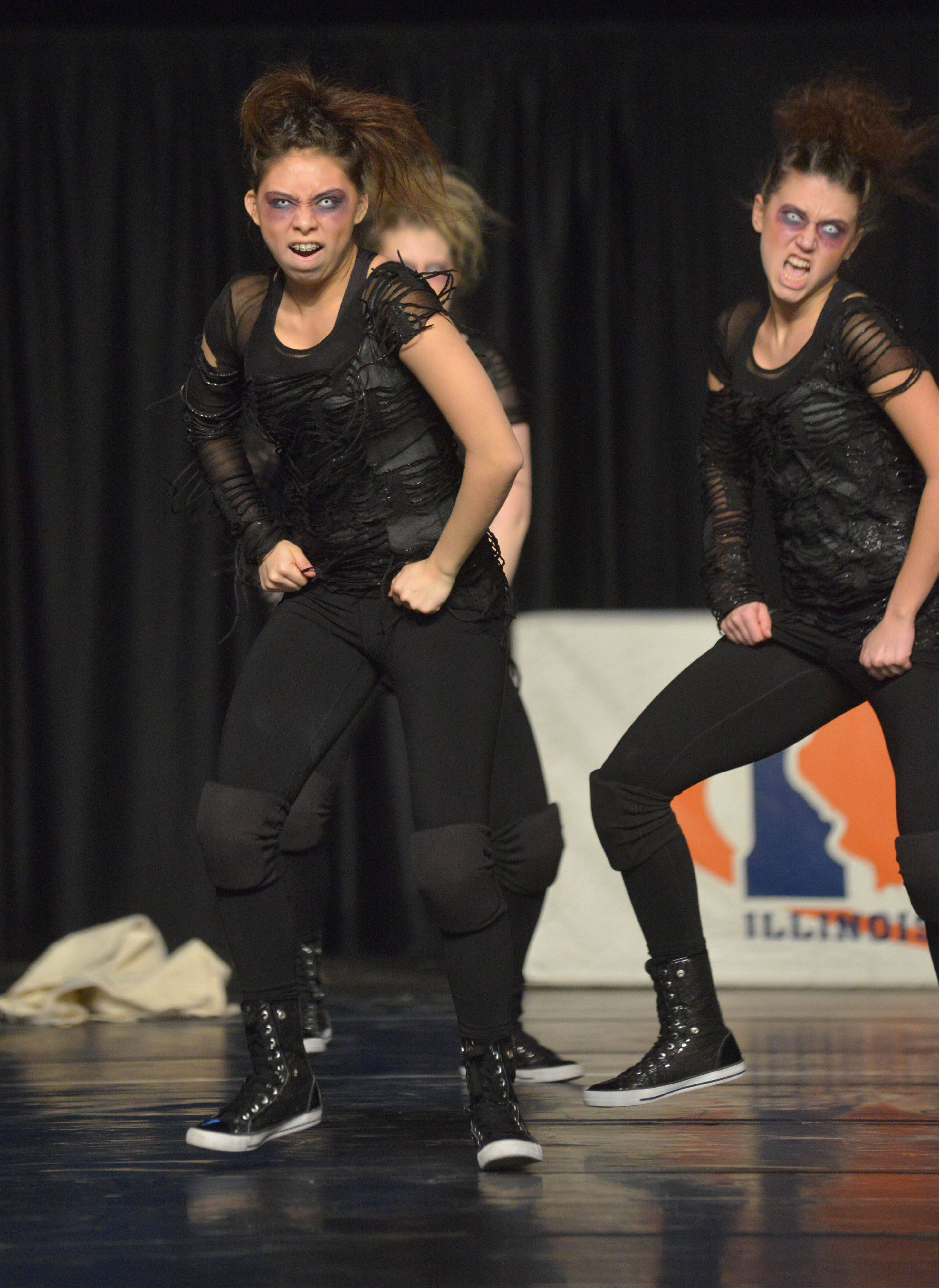 Fenton High School took part in the IHSA Dance State Final at U.S. Cellular Coliseum in Bloomington Saturday. 90 teams vied for state champion at this event.