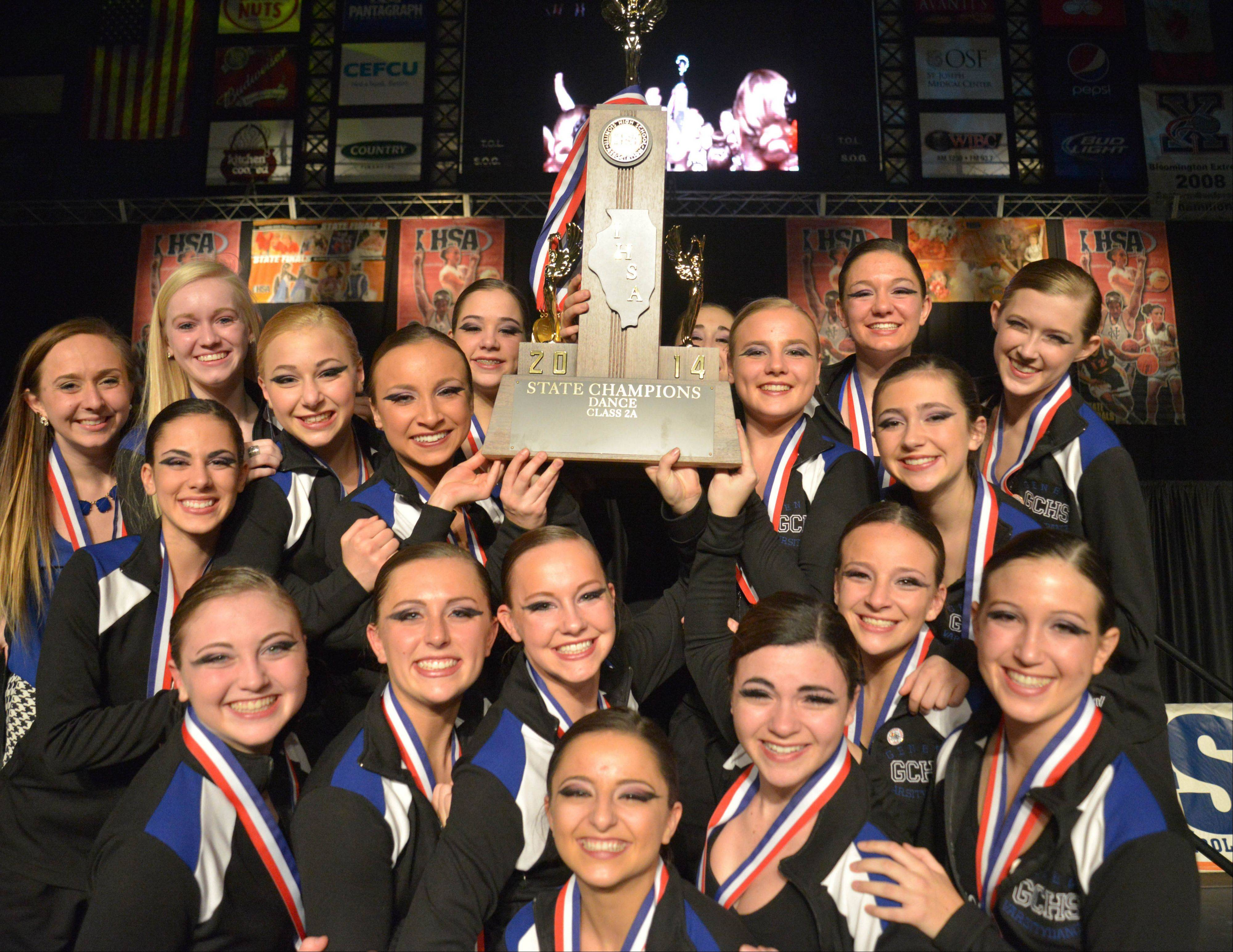 Geneva High School won the 2A IHSA Dance State Final at U.S. Cellular Coliseum in Bloomington Saturday. 90 teams vied for state champion at this event.