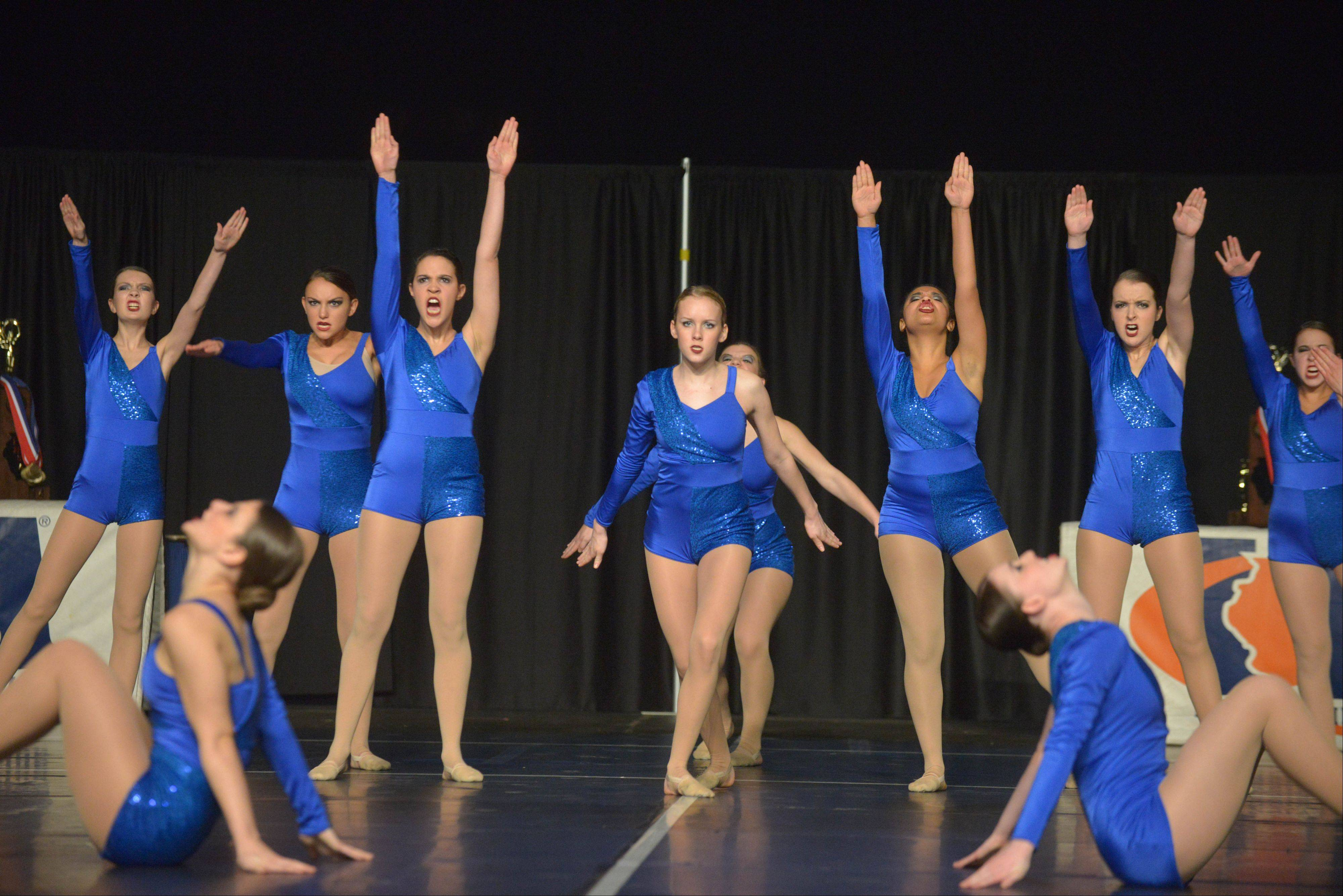 Vernon Hills High School took part in the IHSA Dance State Final at U.S. Cellular Coliseum in Bloomington Saturday. 90 teams vied for state champion at this event.