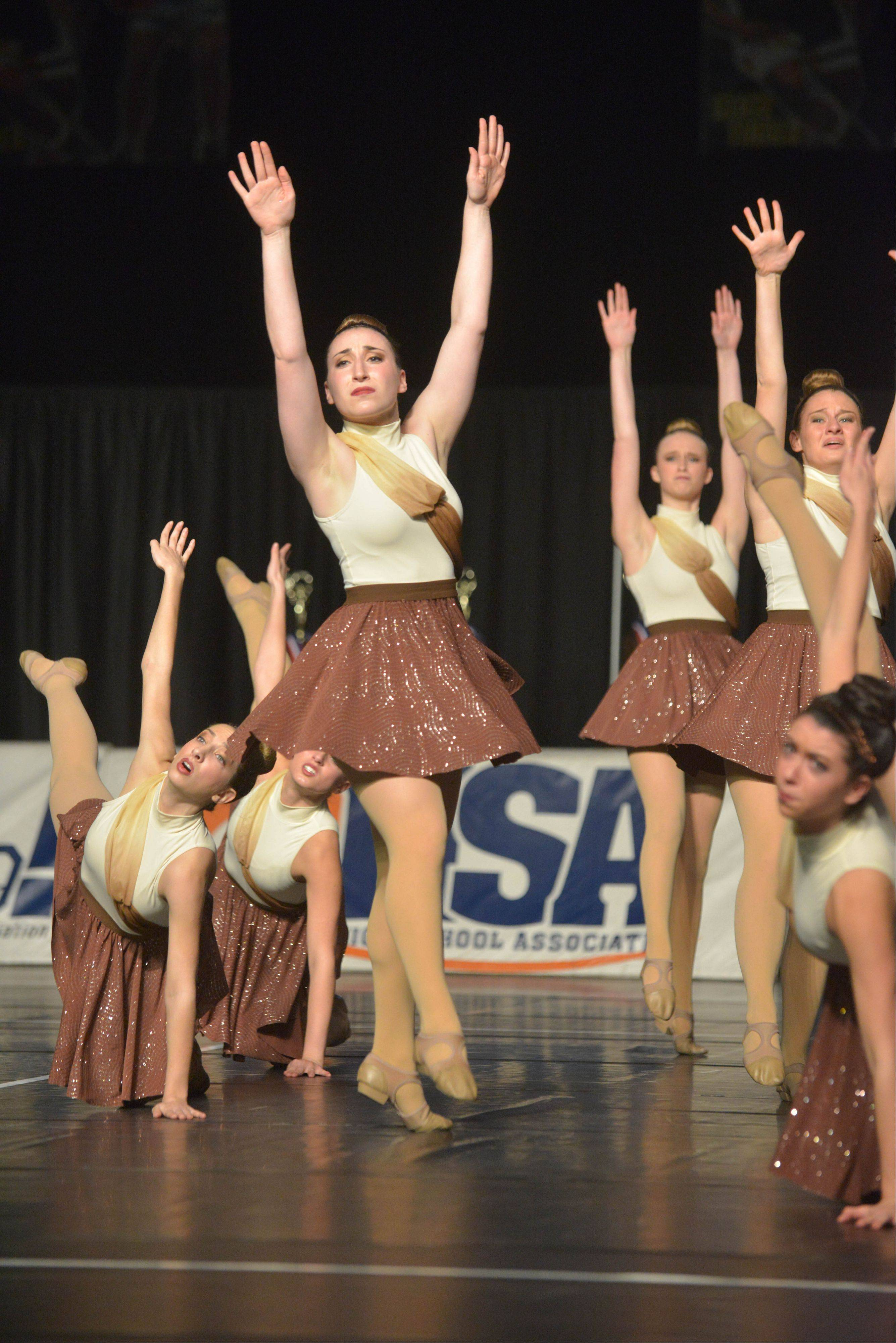 Stevenson High School took part in the IHSA Dance State Final at U.S. Cellular Coliseum in Bloomington Saturday. 90 teams vied for state champion at this event.
