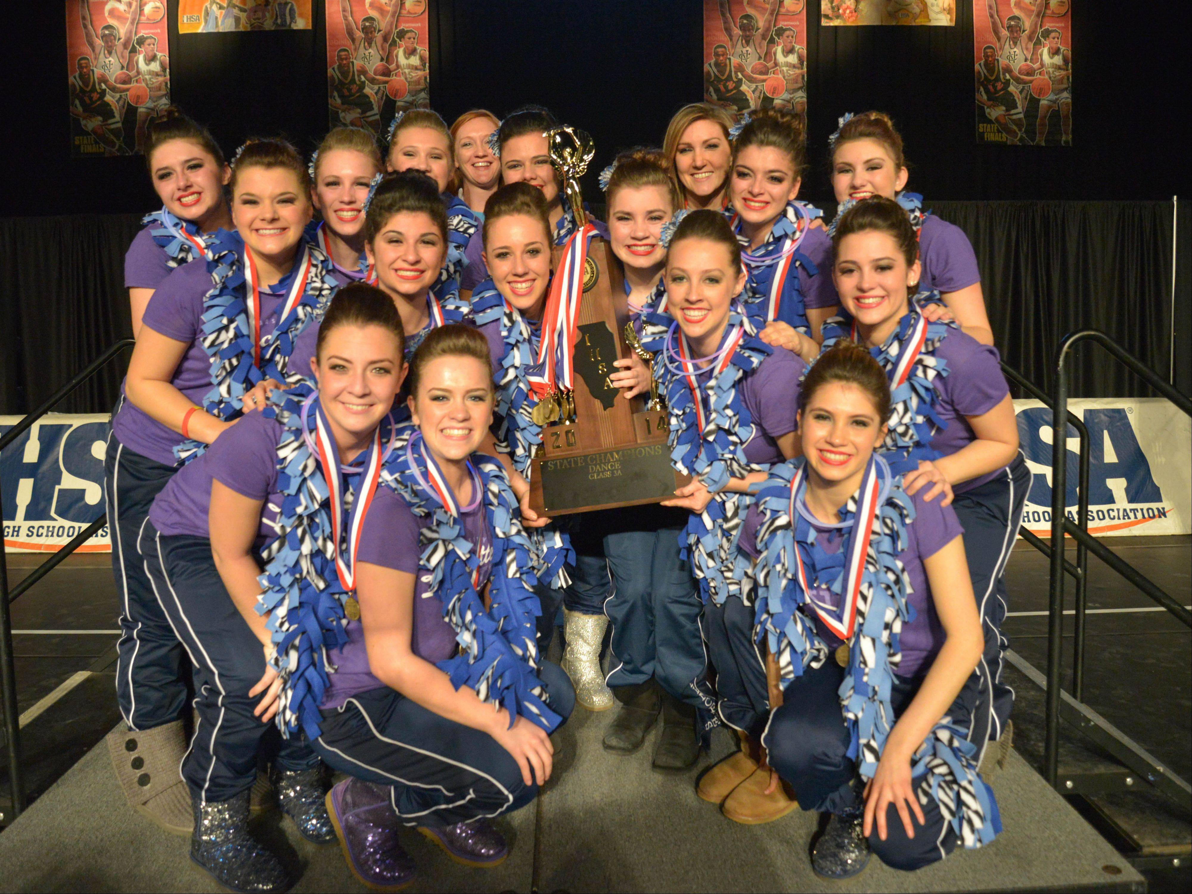 Lake Park High School won first place in the 3A IHSA Dance State Final at U.S. Cellular Coliseum in Bloomington Saturday. 90 teams vied for state champion at this event.