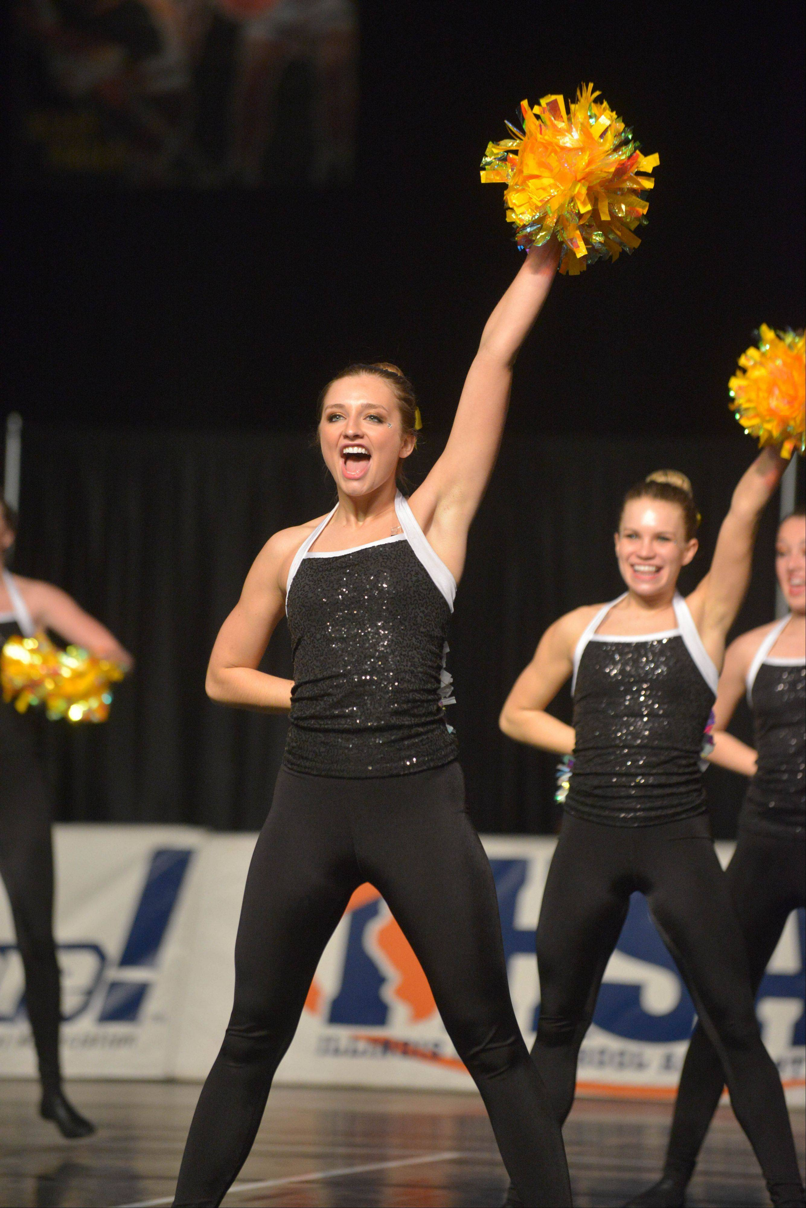 Crystal Lake Central took part in the IHSA Dance State Final at U.S. Cellular Coliseum in Bloomington Saturday. 90 teams vied for state champion at this event.