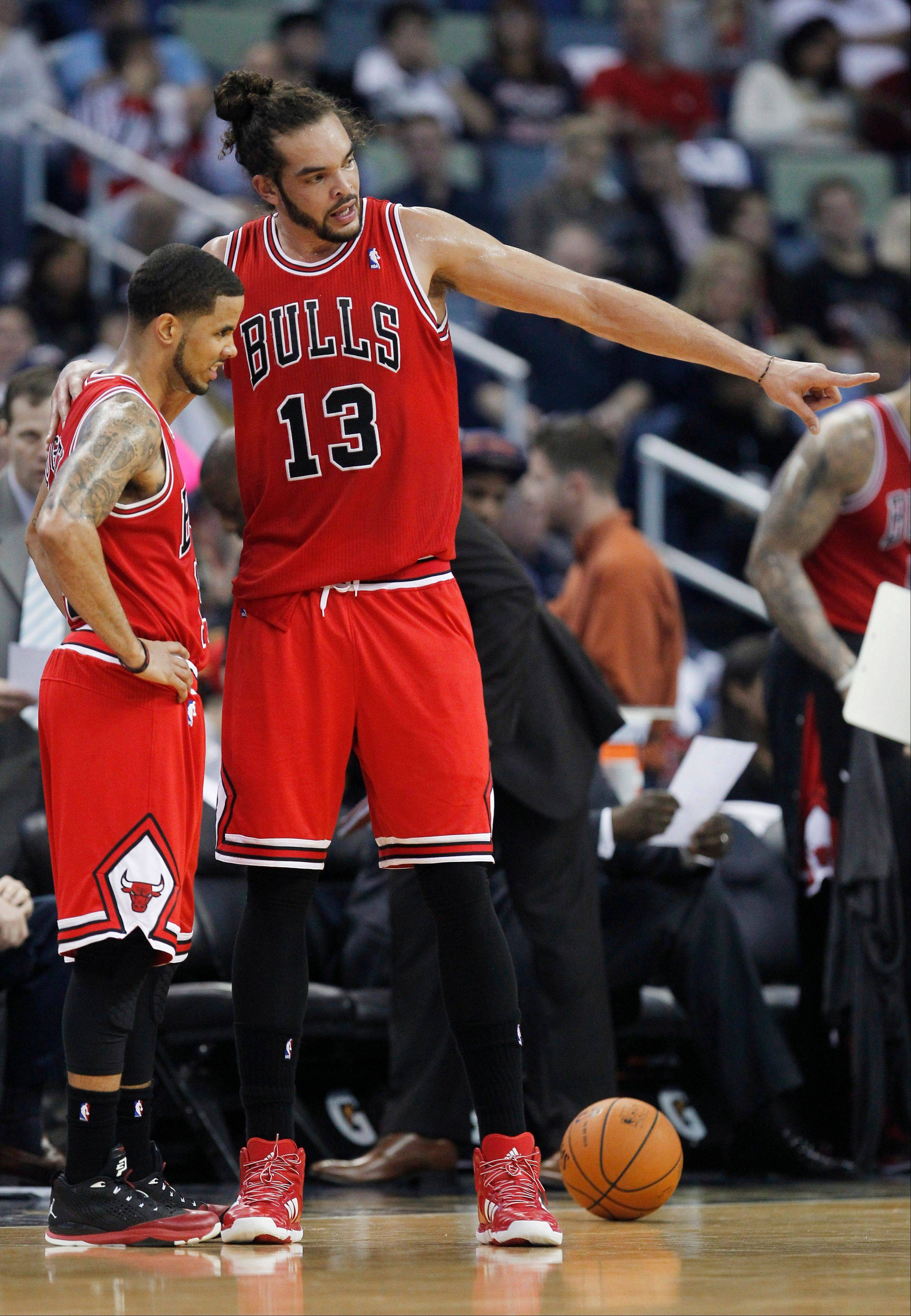Center Joakim Noah is the Bulls� first-half MVP and guard D.J. Augustin is the Bulls� most improved player, according to Mike McGraw.