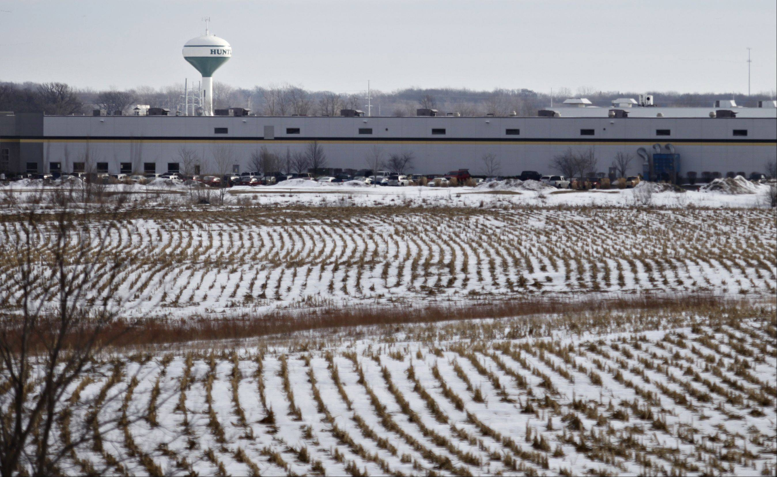 Farmland to the west of Route 47 is listed for sale as part of Huntley's corporate industrial park. Huntley is positioning itself as the next major industrial hub in the suburban Chicago market.