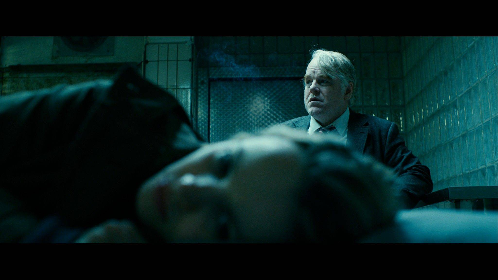 "This photo provided by the Sundance Institute shows Philip Seymour Hoffman, right, and Rachel McAdams, front, in a scene from the film, ""A Most Wanted Man,"" which premiered at the 2014 Sundance Film Festival. After appearing in over 50 movies, 46-year-old Hoffman said working on ""A Most Wanted Man"" was one of the most satisfying movie-making experiences he's had."