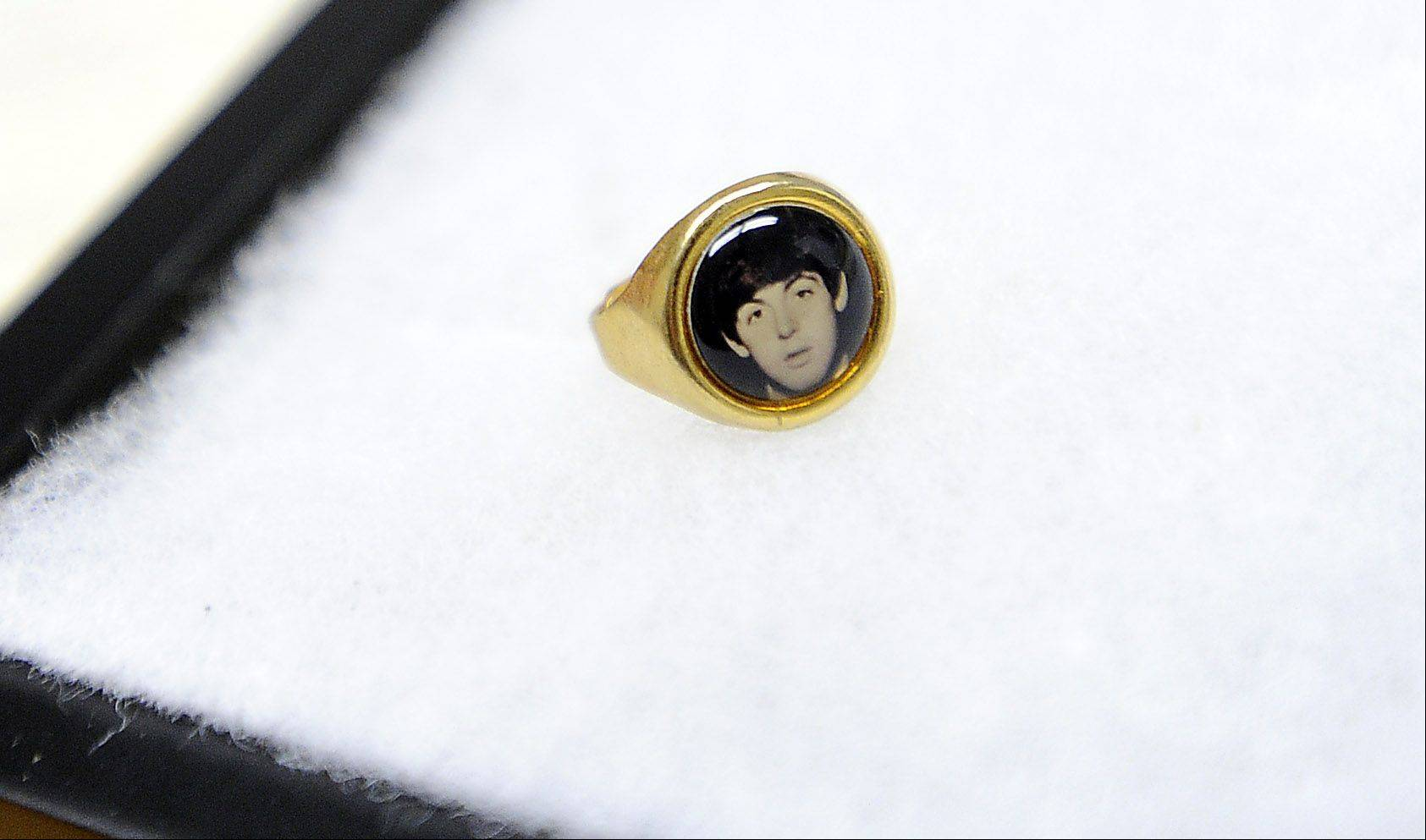 Perhaps the first band to grasp the value of mass marketing, The Beatles found their likenesses on many products, such as the Paul McCartney ring.