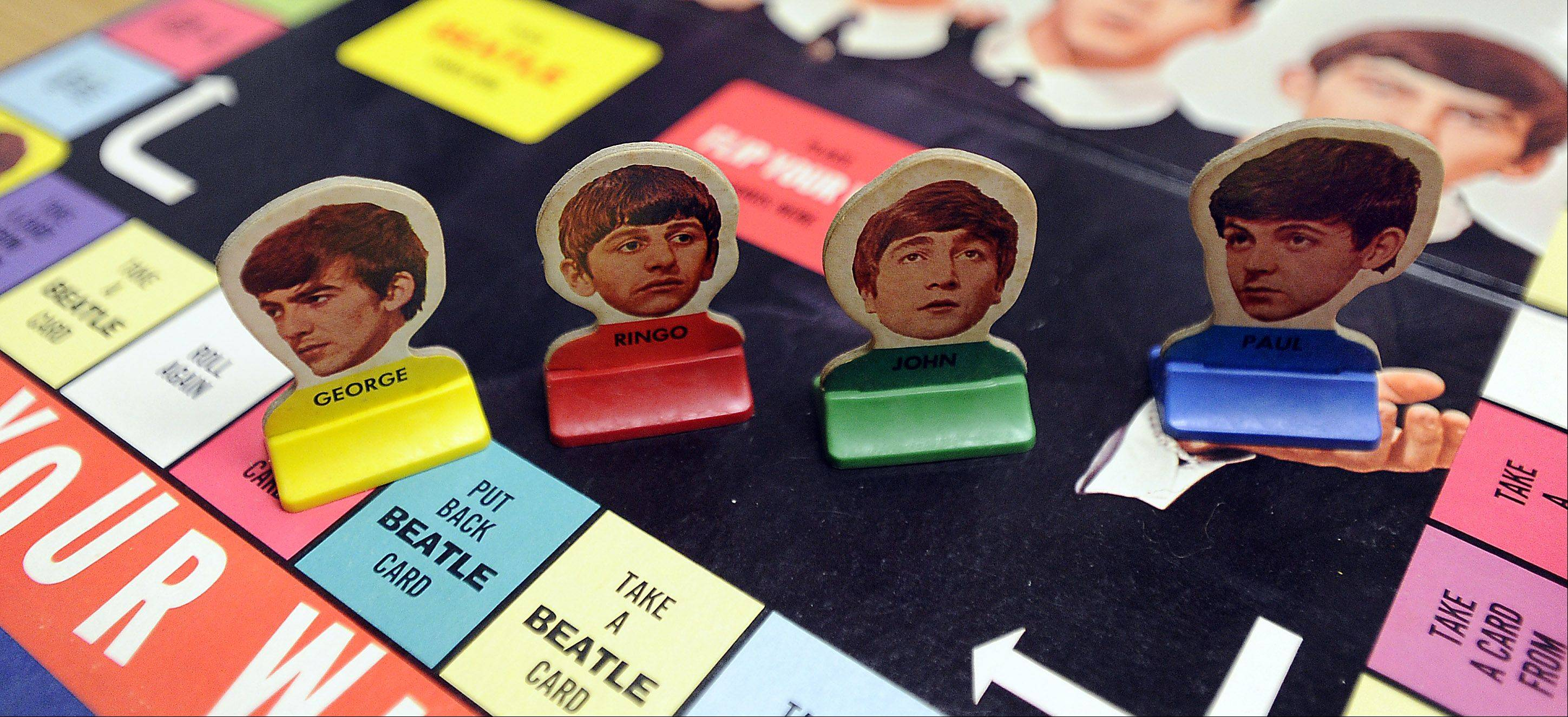 One of the more unusual products to feature The Beatles was this Flip Your Wig board game. It featured photographs of the Fab Four on the game pieces.