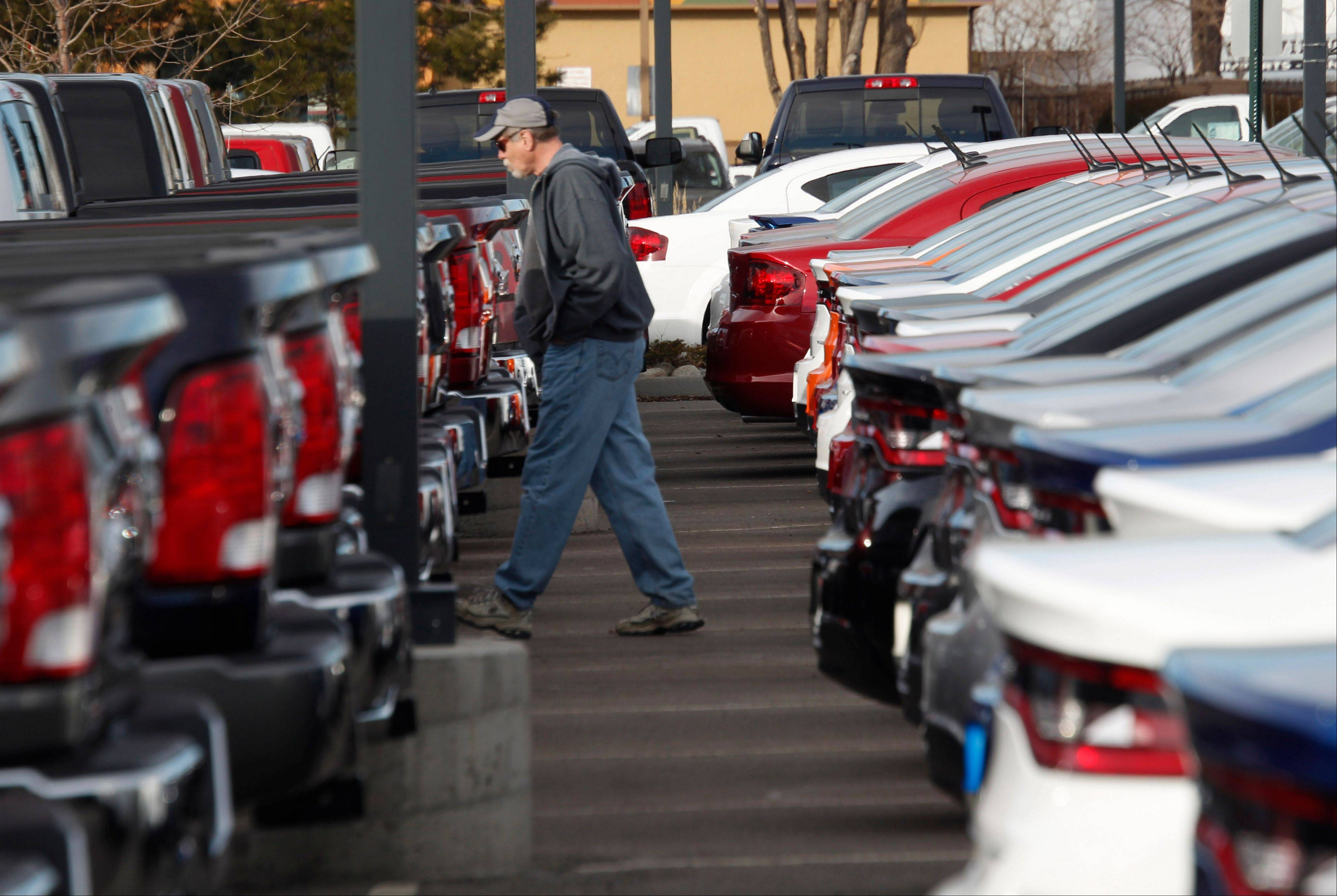 Frigid temperatures and snowy weather generally kept buyers away from auto showrooms last month, with Ford, General Motors, Toyota and Volkswagen all reporting declines from a year ago. But Chrysler, Nissan and Subaru dealers were smiling because sales ran counter to the thermometer and were up for all three brands.