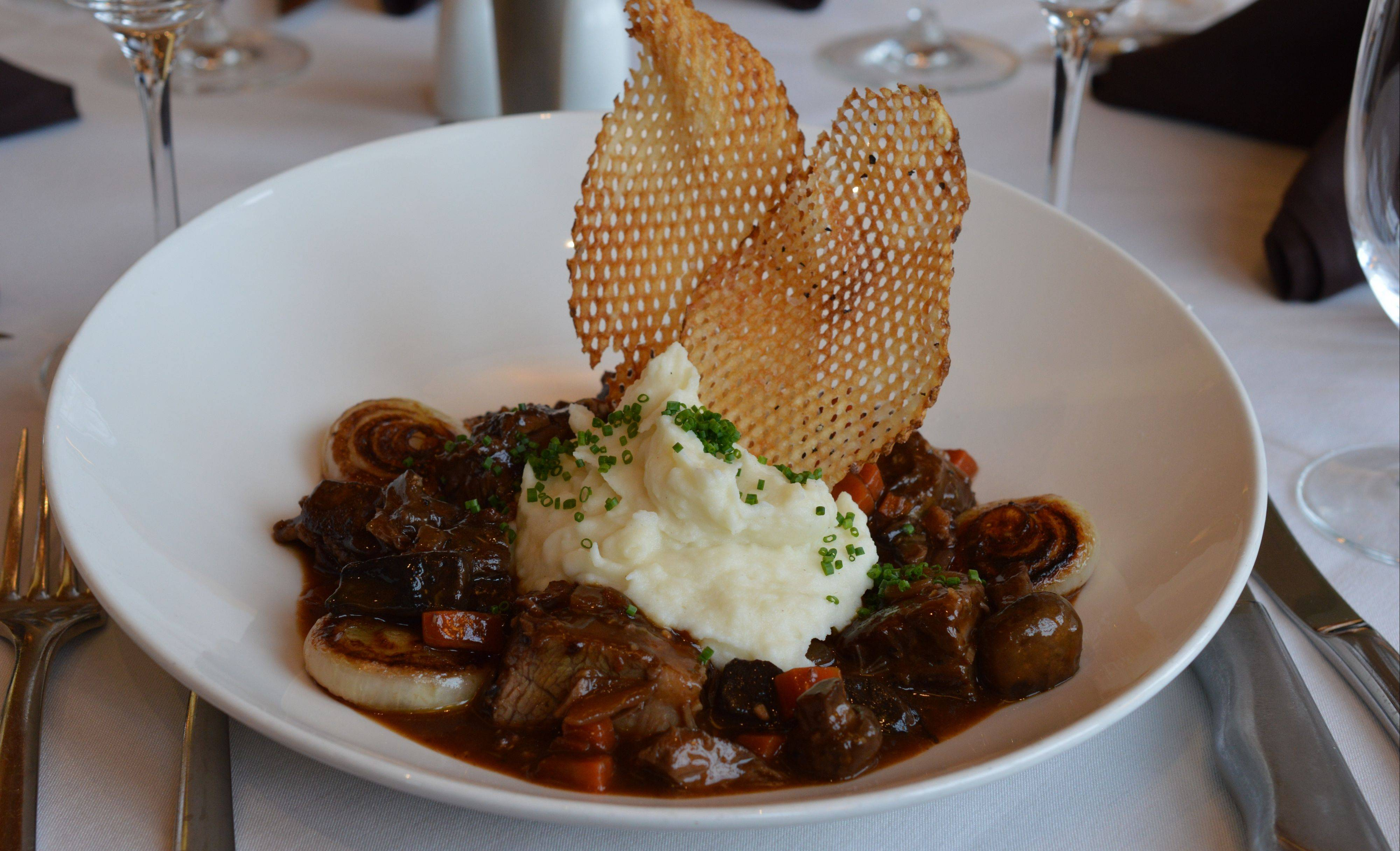 Beef a l� bourguignon is a wonderful way to use up leftover red wine. Try the dish at Eddie Merlot's in Lincolnshire or Warrenville or make their version at home; the recipe is at dailyherald.com/lifestyle/food.