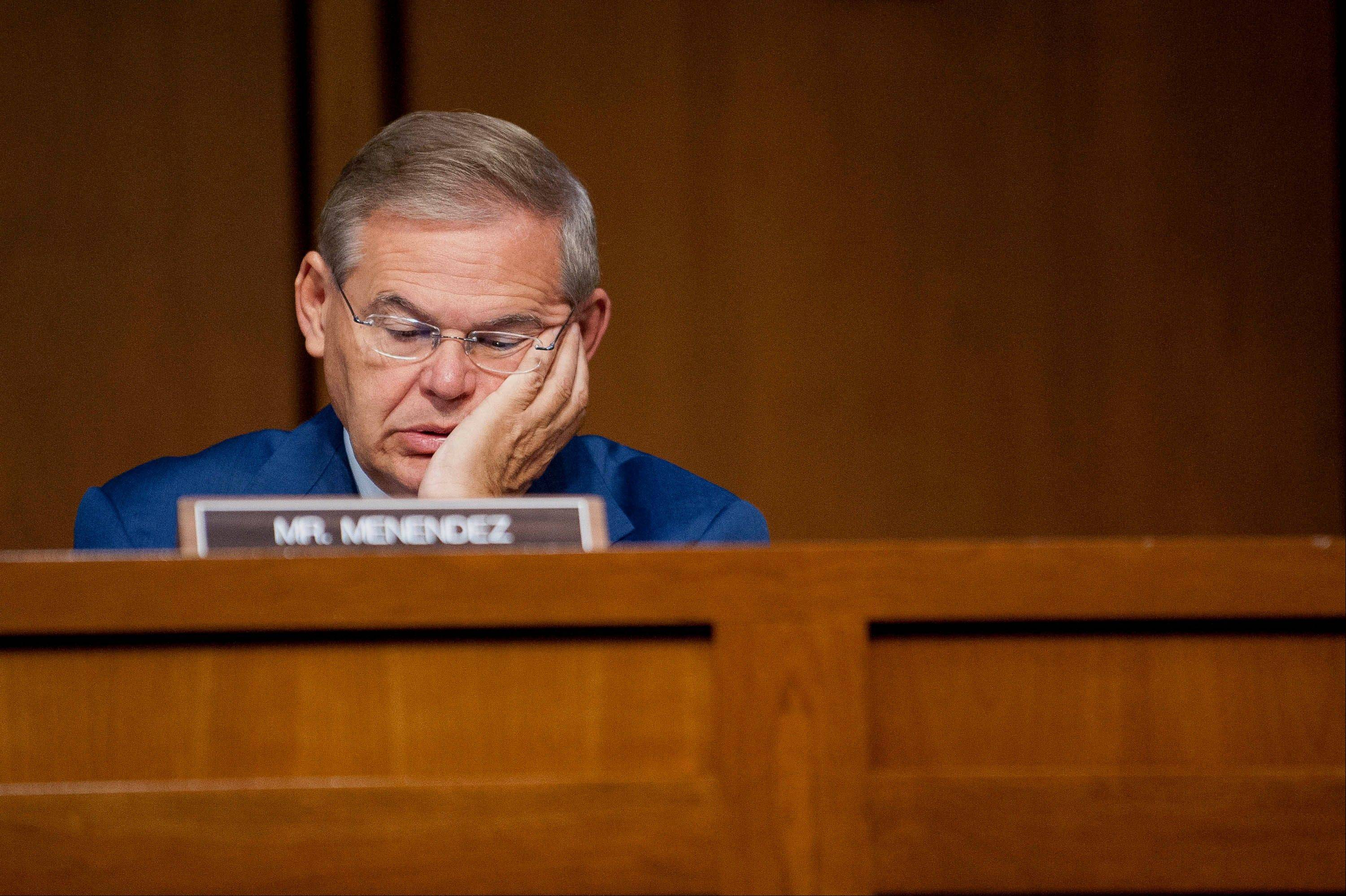 Senator Robert Menendez, a Democrat from New Jersey, listens to testimony during a Senate Finance Committee hearing last fall. Congress suspended the debt limit in October as part of a deal to reopen the government after a partial shutdown. But the suspension ends on Friday.