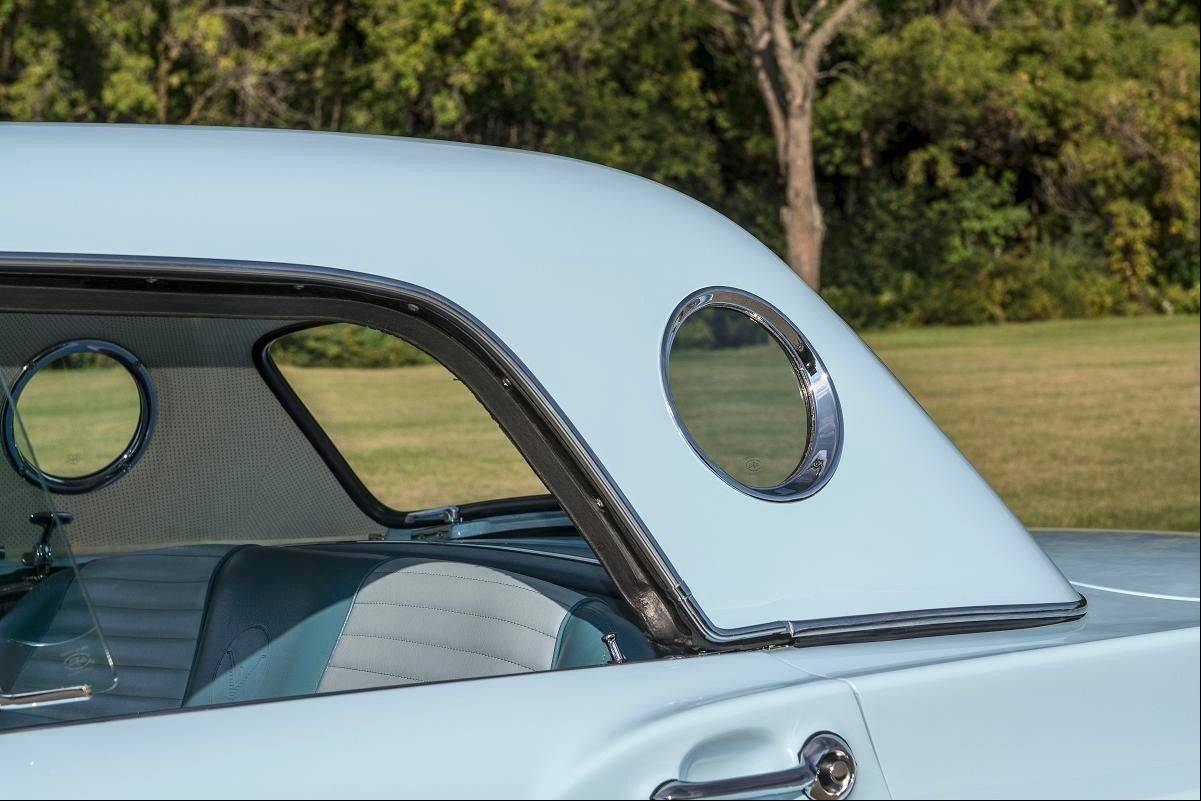 "The ""porthole"" is another favorite feature for fans of the 1957 Thunderbird."