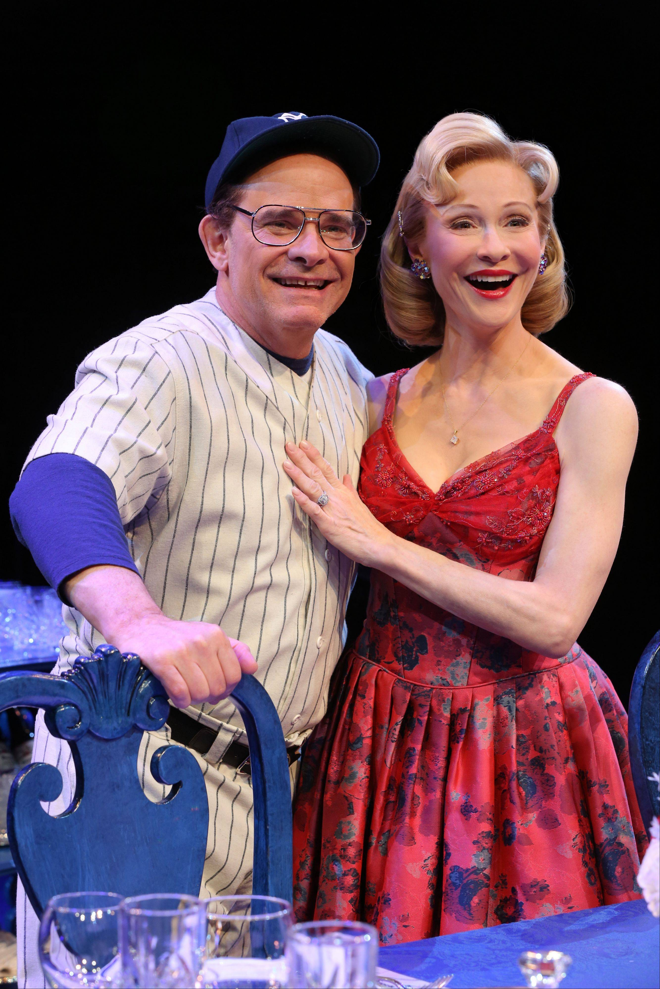 "Peter Scolari, left, and his wife, actress Tracy Shayne, portray baseball legend Yogi Berra and his wife, Carmen, in ""Bronx Bombers,"" which examines the rich history of the New York Yankees."