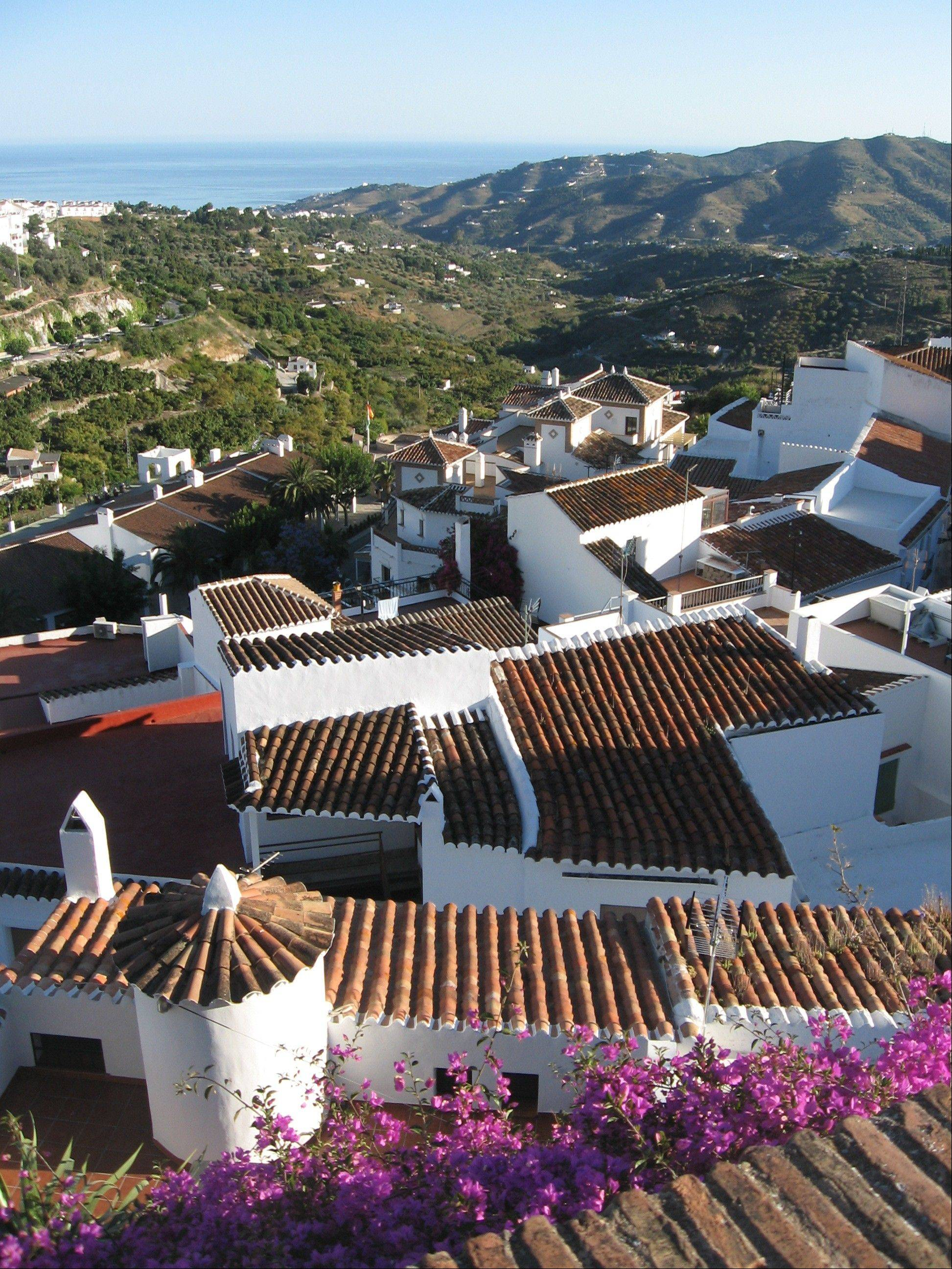 "Frigiliana is one of Spain's ""pueblos blancos,"" or white villages that sit high above the Mediterranean coast."