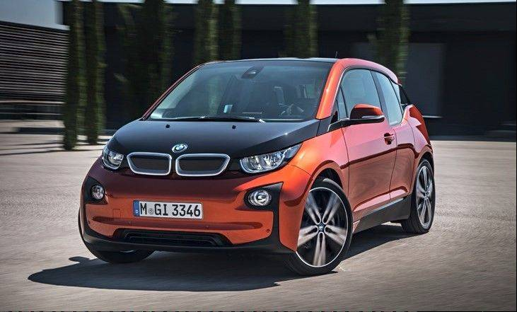 The electric BMW i3 is of state-of-the-art carbon fiber construction.