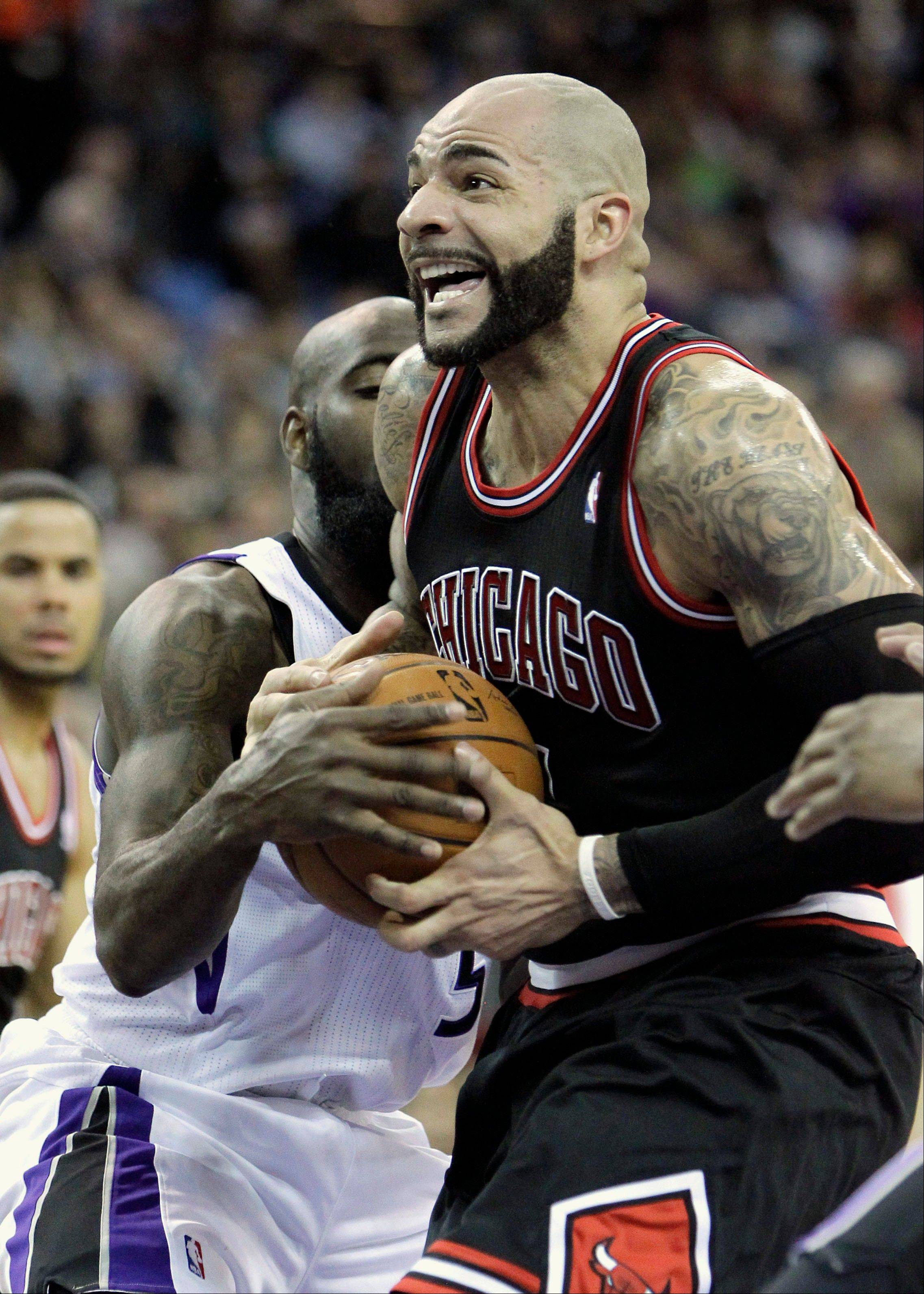 Bulls forward Carlos Boozer expressed his frustration Monday over his lack of fourth-quarter playing time.