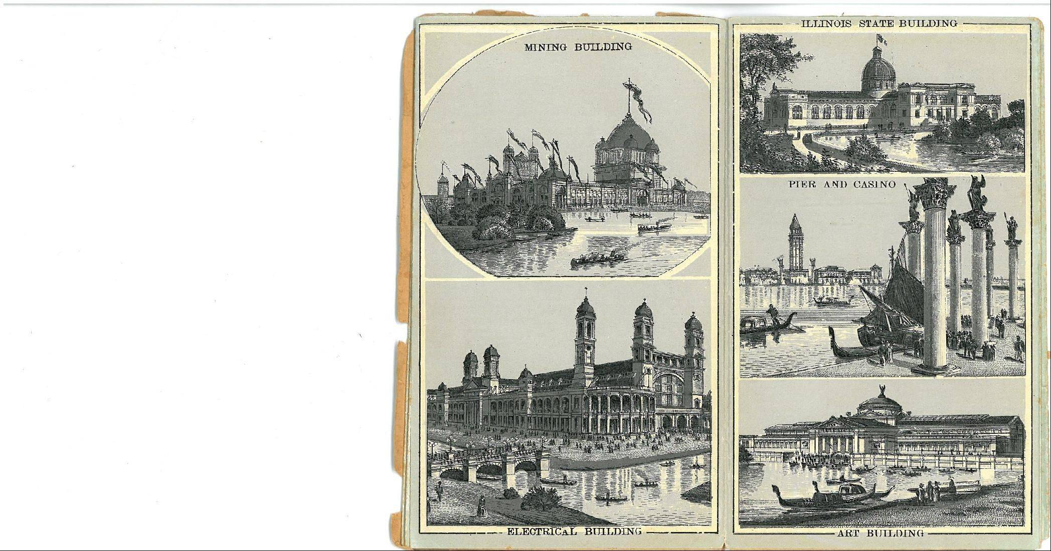 Buildings at the 1893 World's Columbian Exposition.
