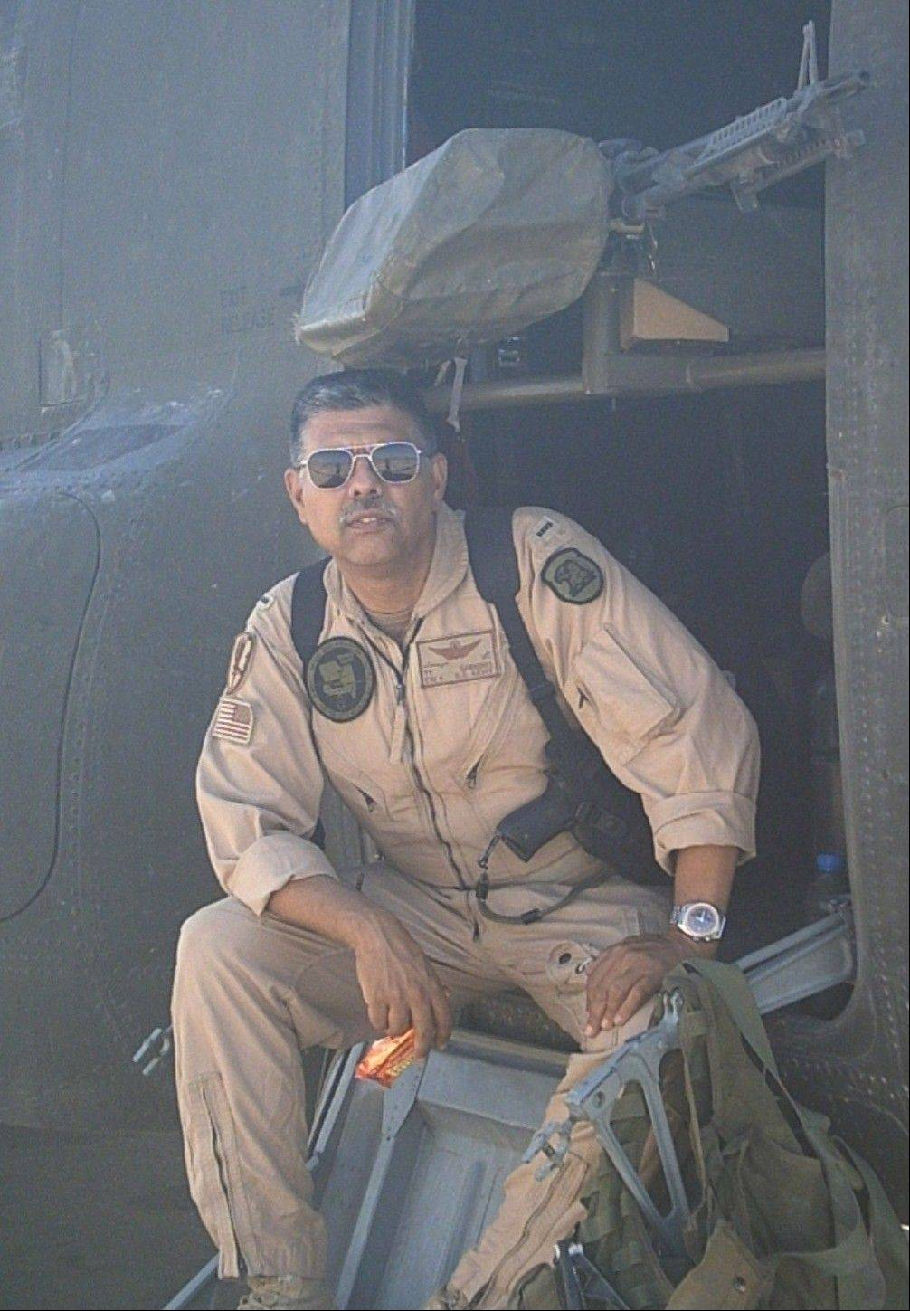 Chief Warrant Officer 4 Ty Simmons USA (ret), pictured during his service in Iraq.
