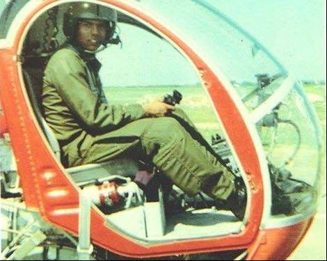 Chief Warrant Officer 4 Ty Simmons USA (ret), served as Huey helicopter pilot during his service in Vietnam.