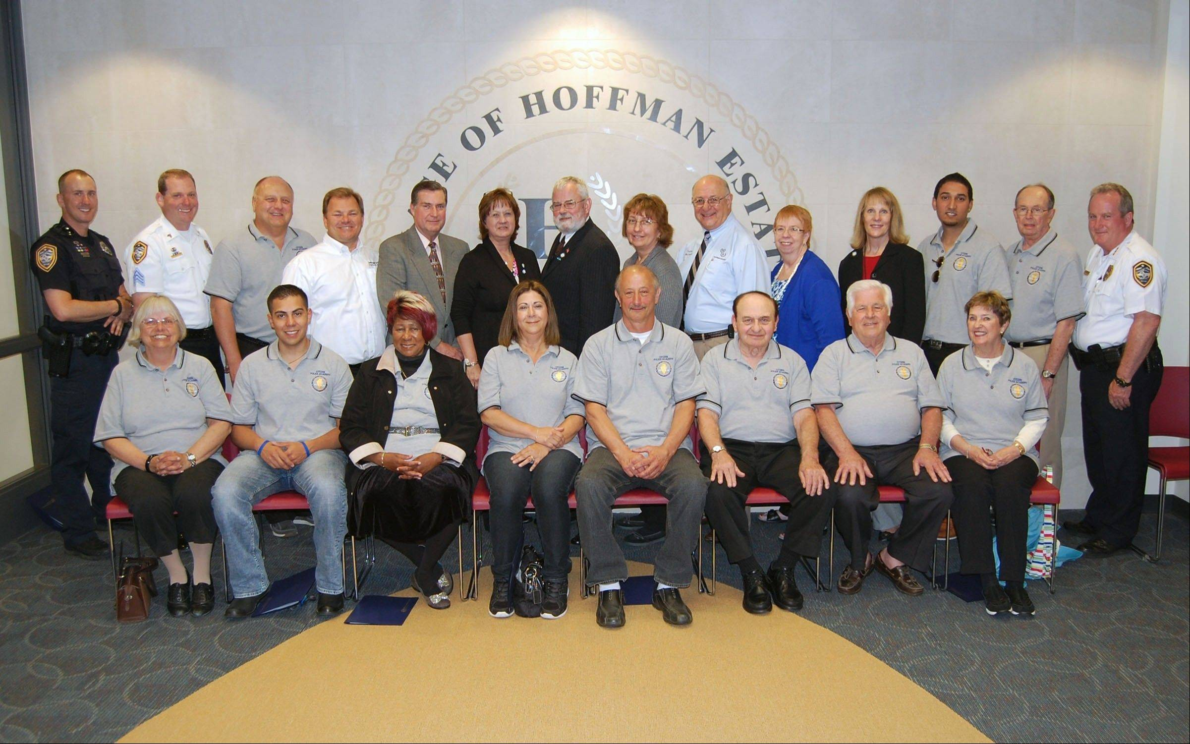 Graduates from the 2013 Hoffman Estates Citizen Police Academy.