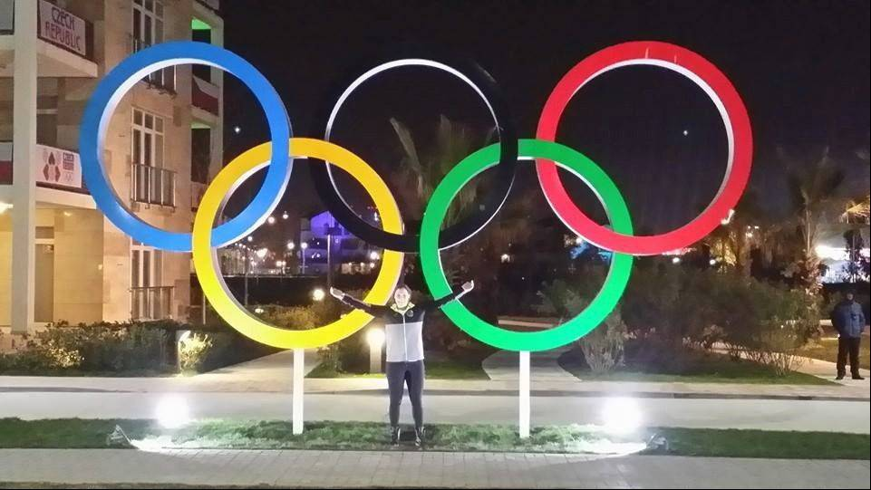 Images from Sochi as BG Olympian arrives