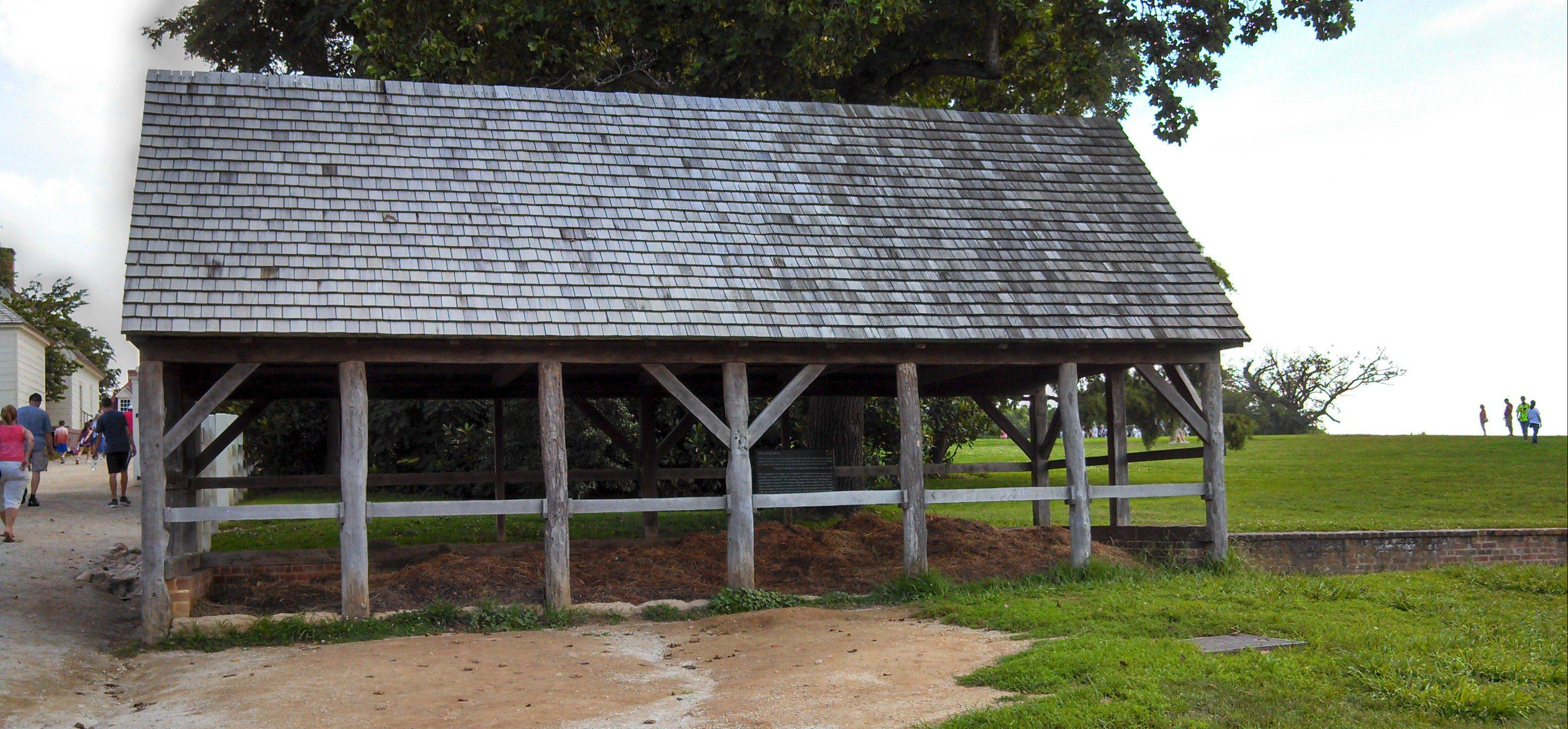 "The recreated ""stercorary"" used by George Washington at Mount Vernon reaches 8 feet into the ground and holds manure and plant waste, capturing the nutrients so they can be returned to the soil -- what we would call composting today."