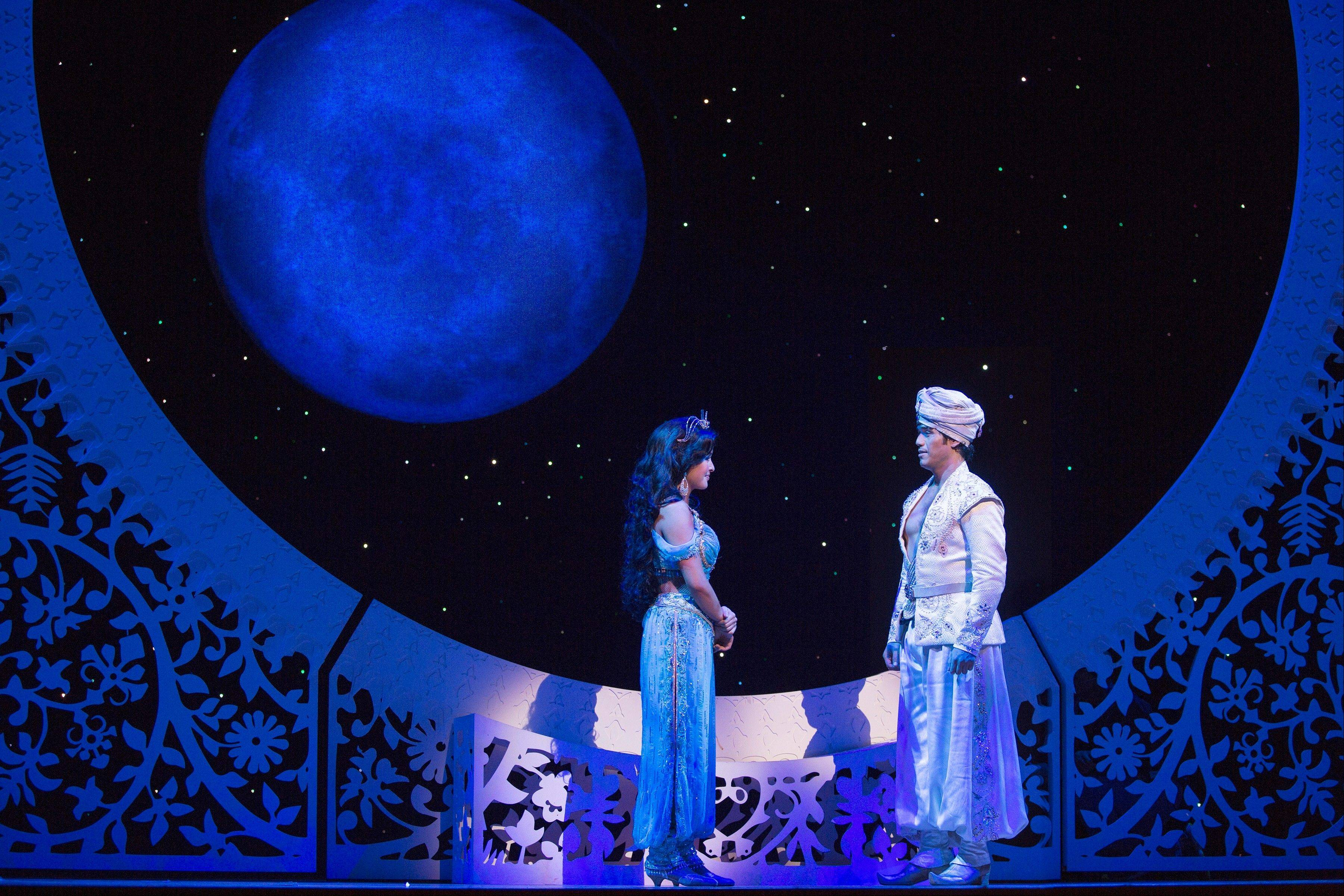 "Elgin native Courtney Reed plays Jasmine to Adam Jacobs' ""Aladdin"" in the Broadway musical inspired by the Disney film."