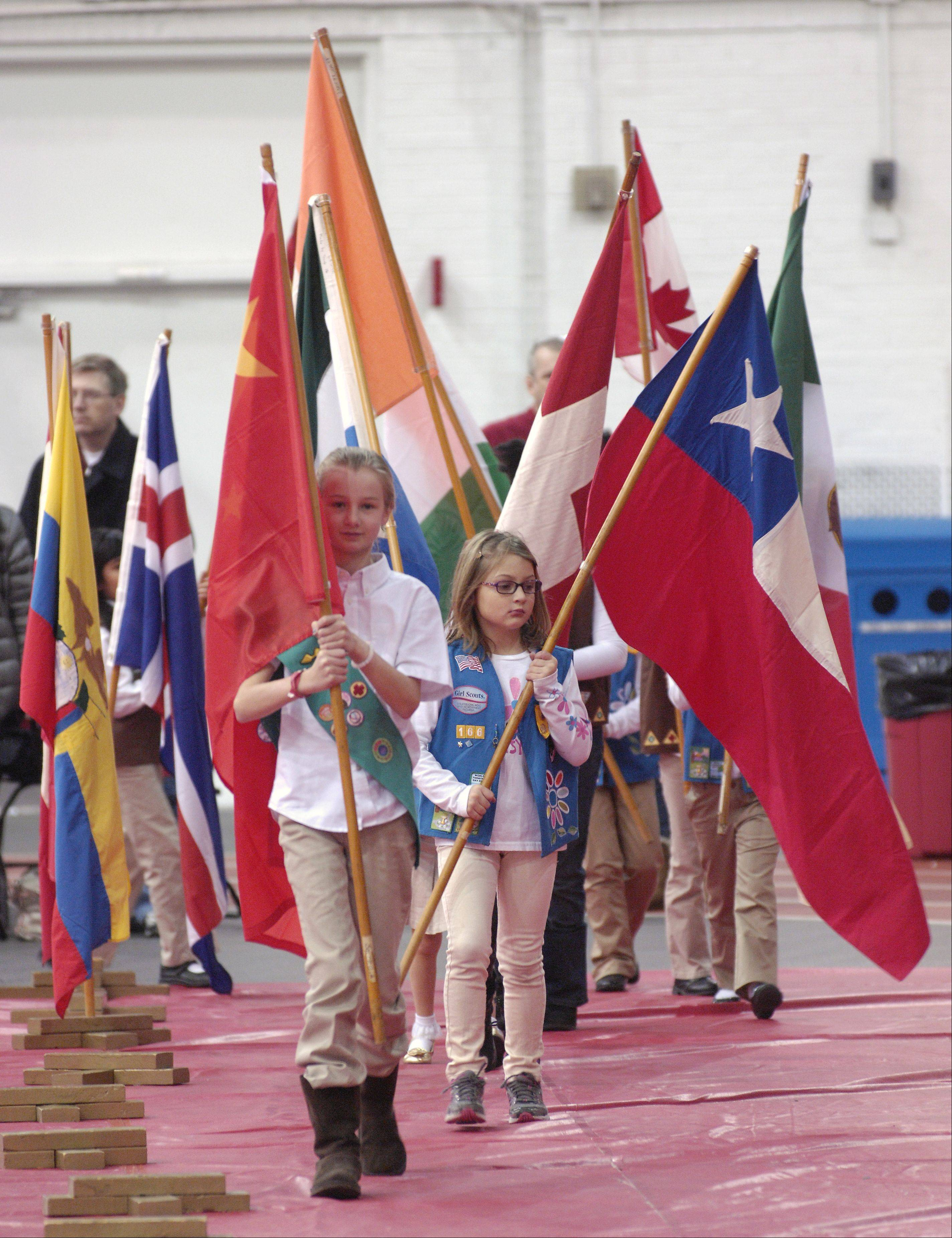 A flag ceremony will open North Central College's International Festival at noon Sunday, Feb. 9, at Merner Field House in Naperville. The annual celebration features international cuisine, language immersion rooms, multicultural performances and more.