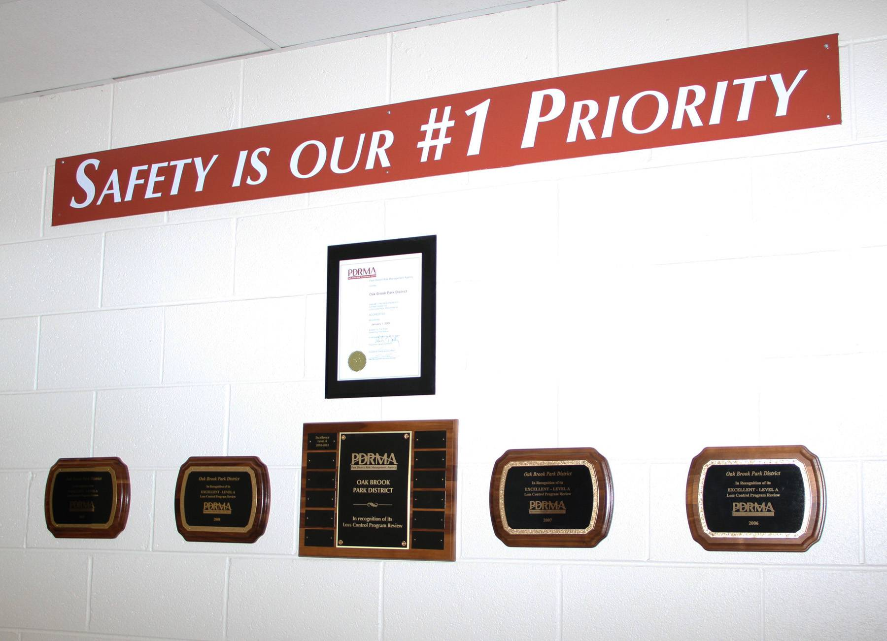 The Oak Brook Park District has maintained PDRMA's highest accreditation status for safety since 2006.