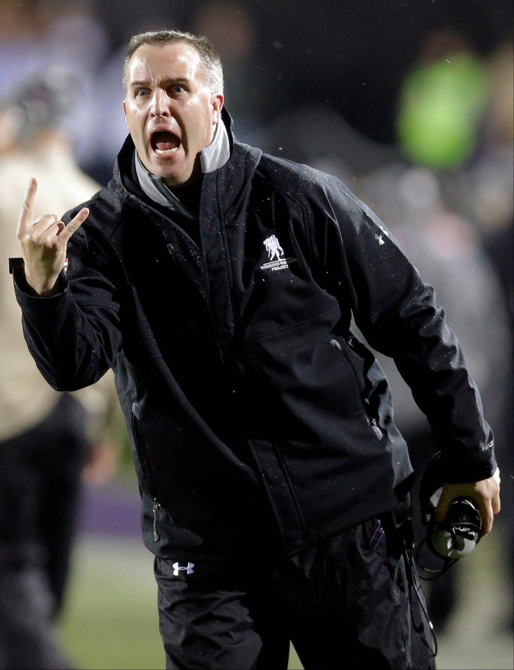 Northwestern coach Pat Fitzgerald insists that the program remains in good shape after such a disappointing 2013 season.