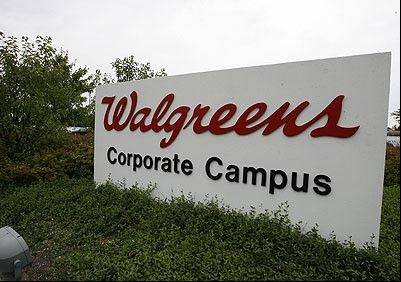 Walgreen, the nation's biggest drugstore operator, said sales at stores open at least a year grew 2.9 percent for the month, mostly because revenue from pharmacy departments improved.