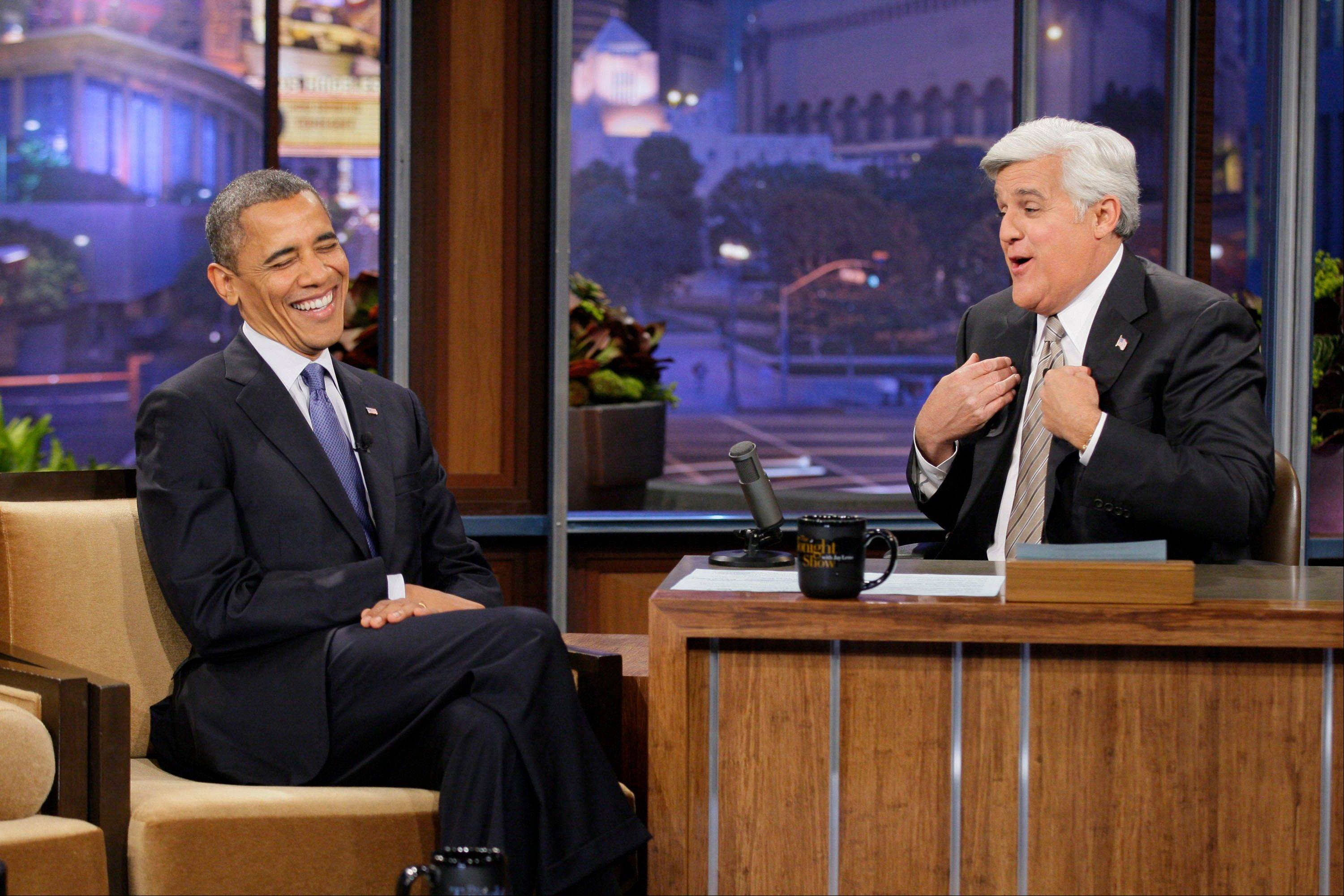 "Jay Leno interviewed Barack Obama in 2009, which was the first interview with a sitting president, on ""The Tonight Show With Jay Leno."""