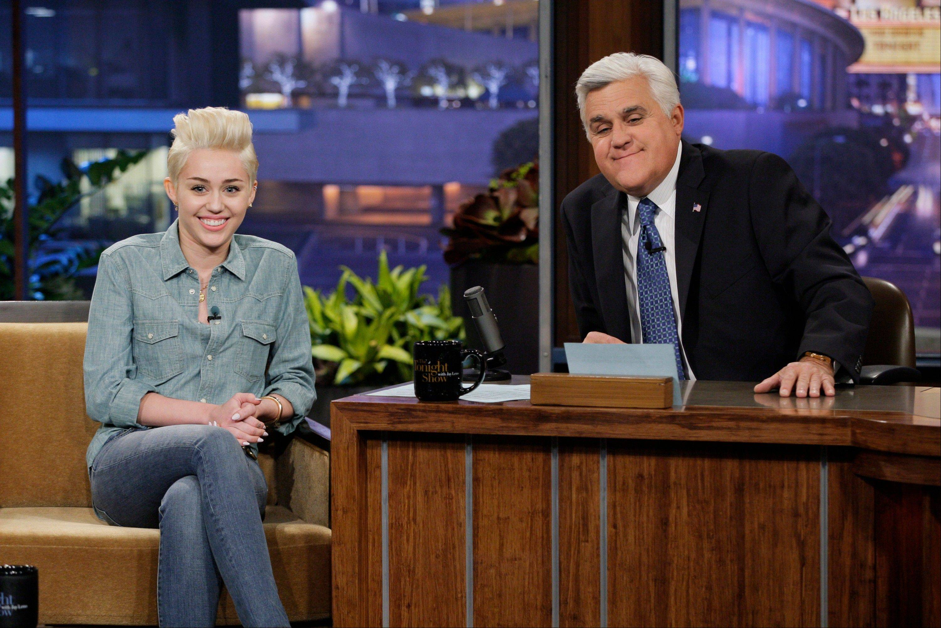 "Miley Cyrus was a recent guest on ""The Tonight Show with Jay Leno."" Leno will host his final episode on Thursday, Feb. 6."