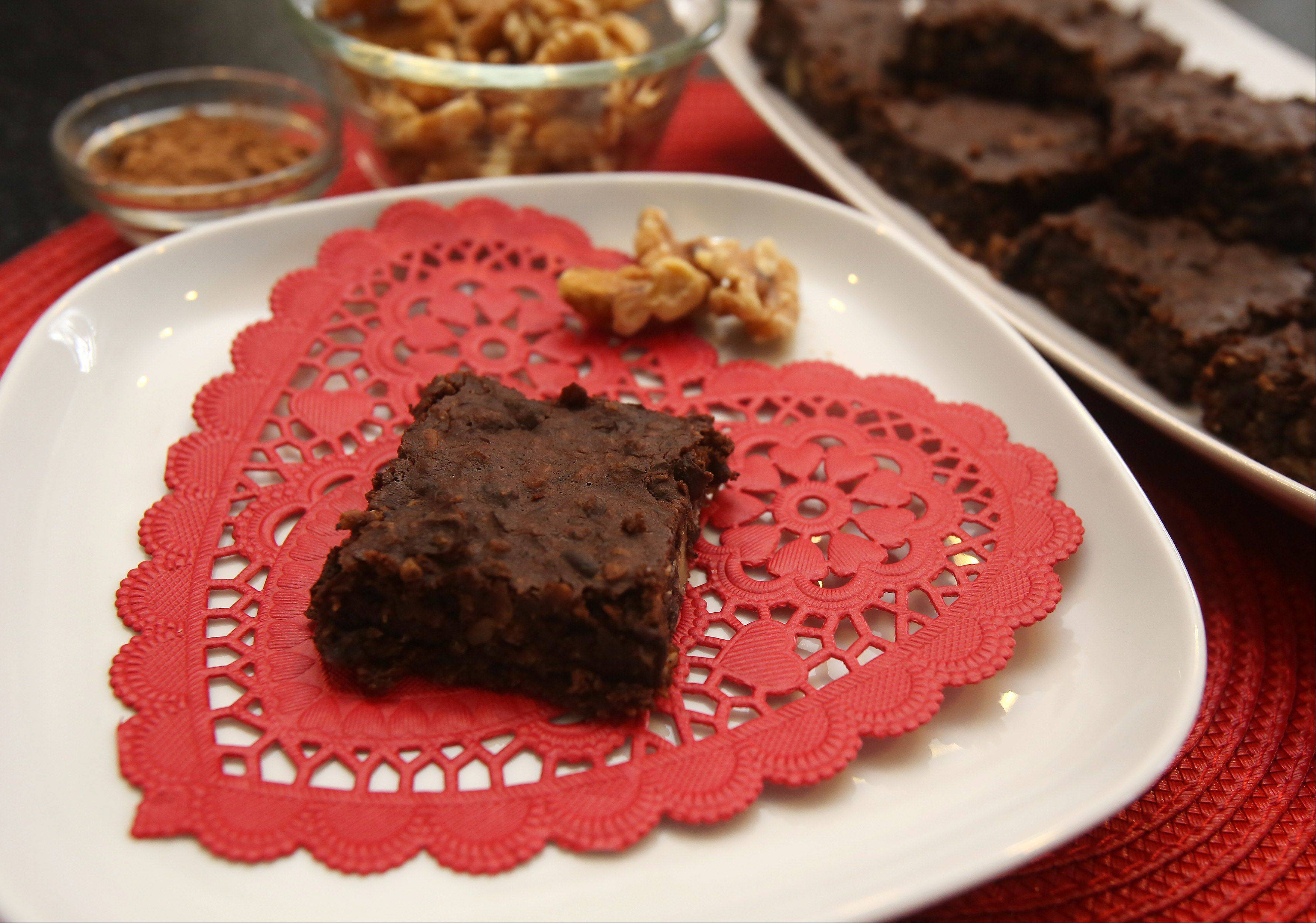 Dark cocoa and black beans make this Valentine's Day brownie good for your sweetheart and your sweetheart's heart.
