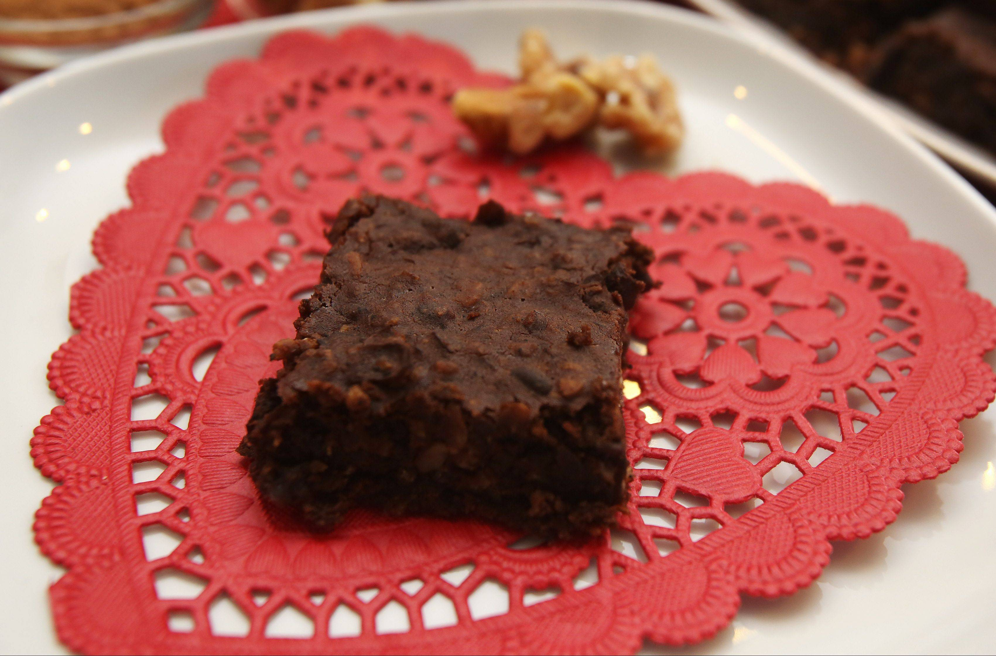 Dark cocoa and black beans make this Valentine's Day brownie a good choice for your sweetheart and your sweetheart's heart.