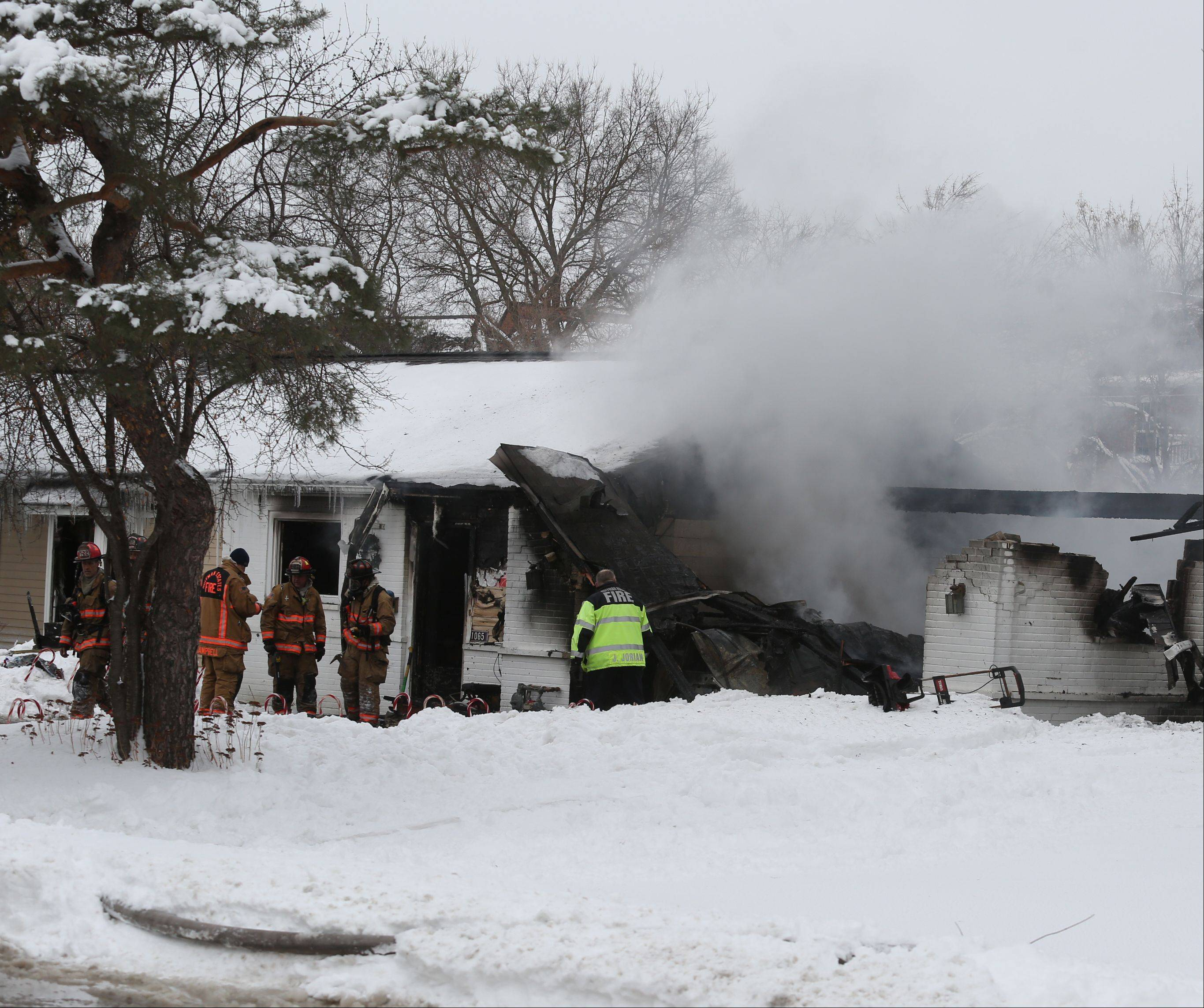 Firefighters responded to a house fire Wednesday afternoon on Basswood Street in Hoffman Estates. Two pets were later found dead, and the home was left completely uninhabitable.
