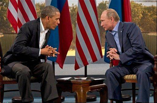 President Barack Obama meets with Russian President Vladimir Putin in Northern Ireland on June 17, 2013.