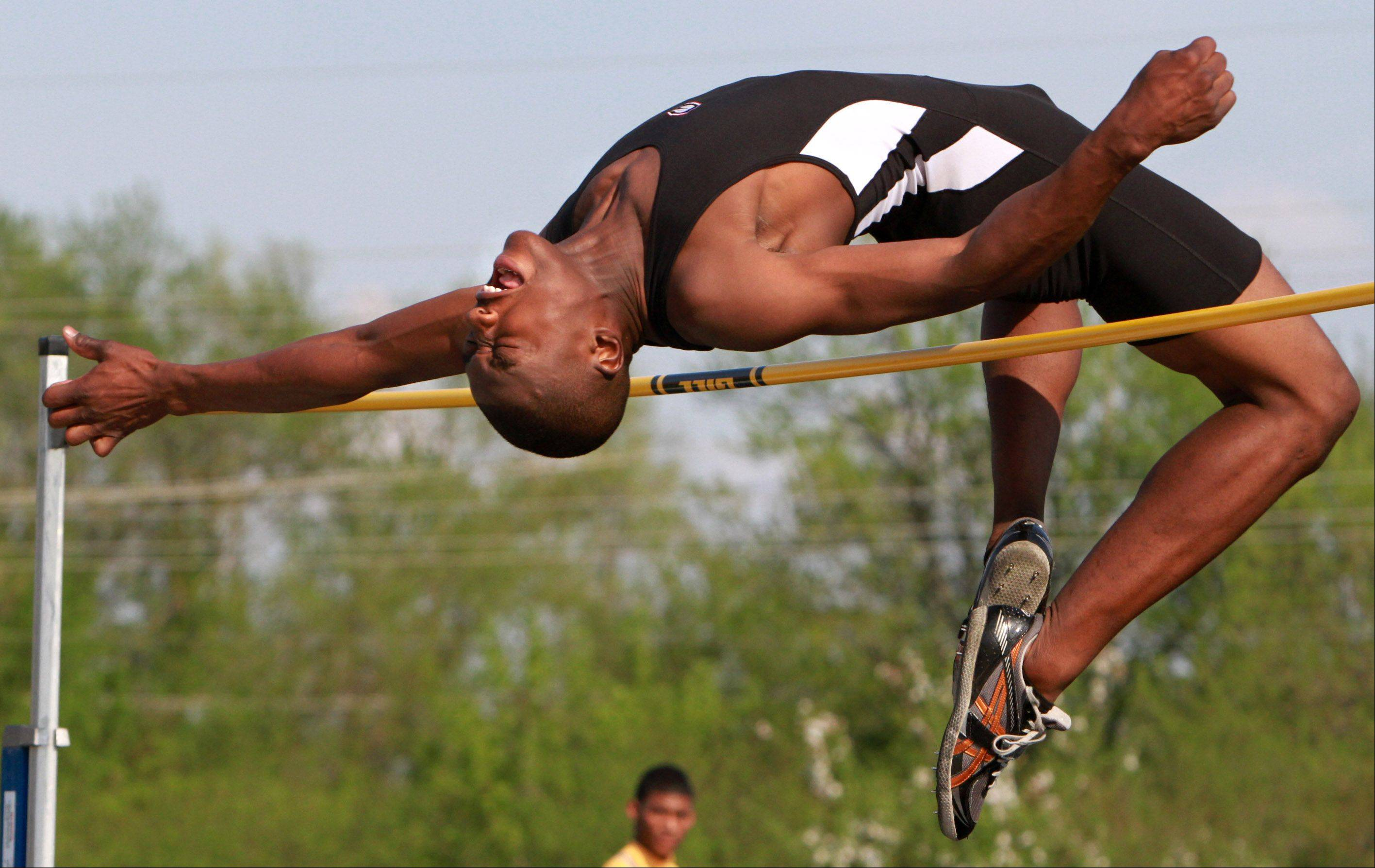 Grant's Jonathan Wells, the defending Class 3A state champ in the high jump, will compete for the University of Illinois.